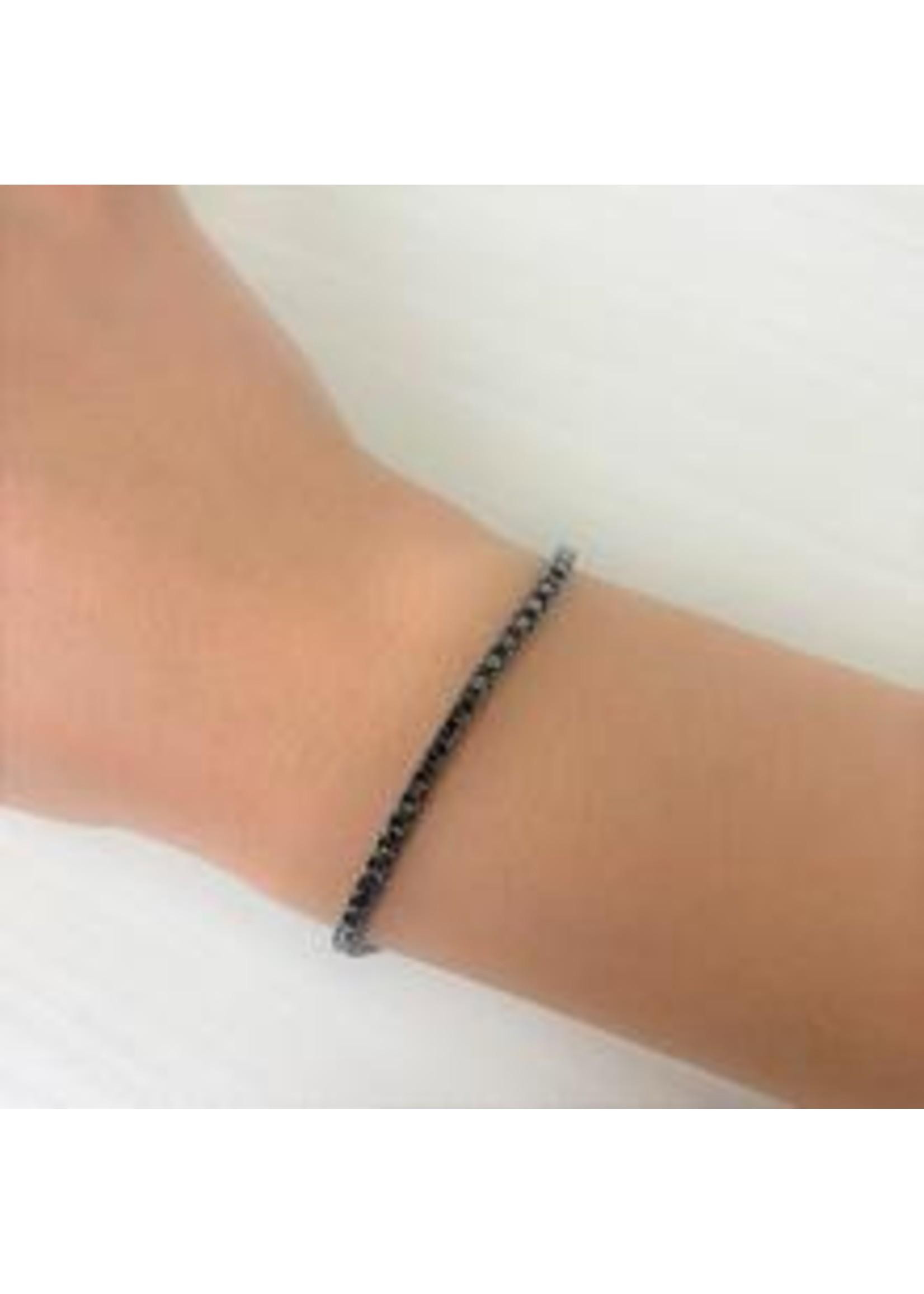 Jill Alberts Black Diamond Tennis Bracelet