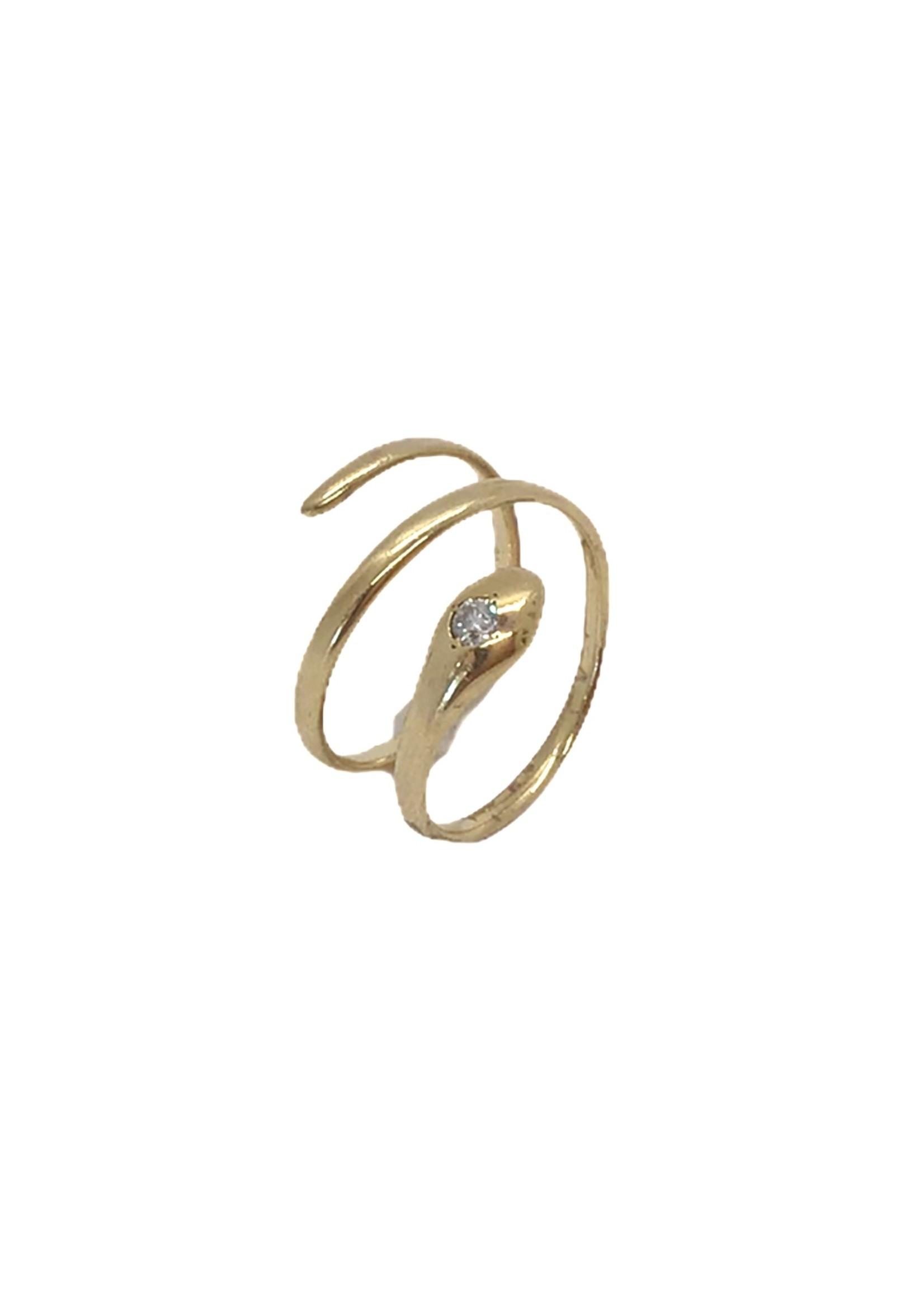 Jill Alberts  Diamond Snake Ring