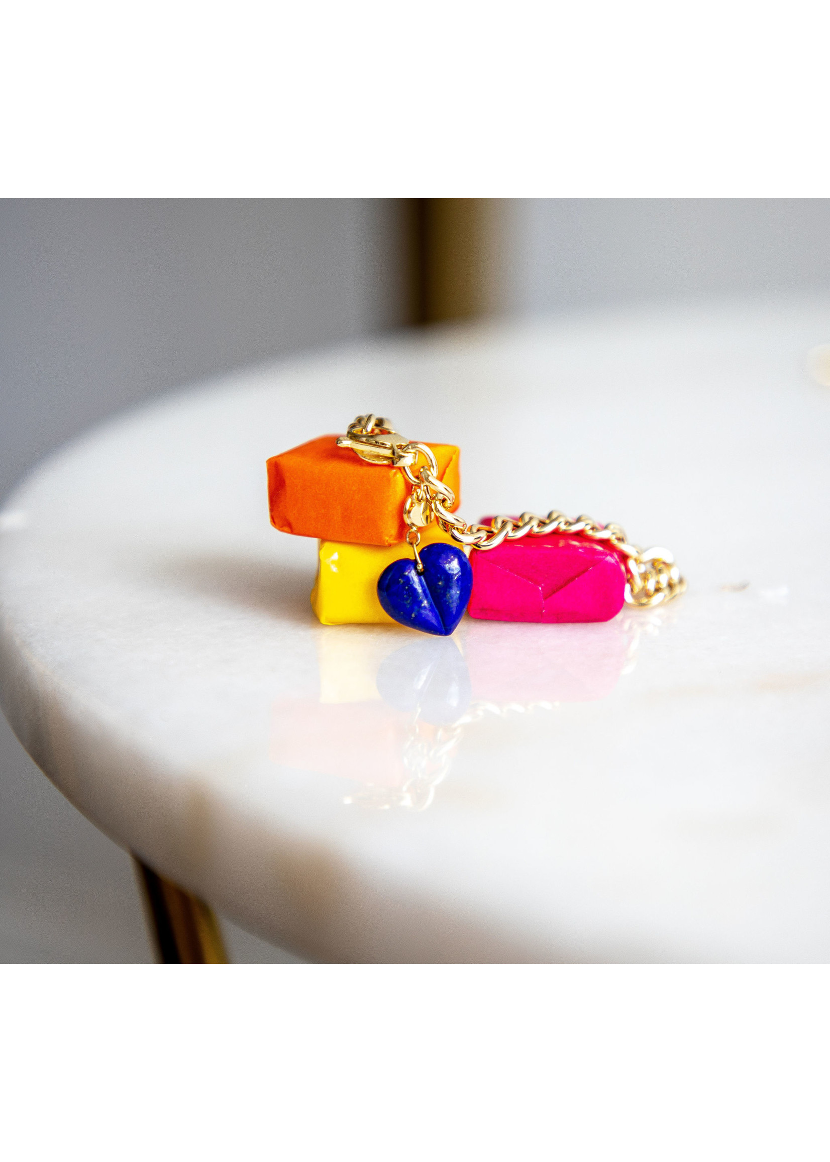 Ten Thousand Things Mini Split Lapis Heart Charm