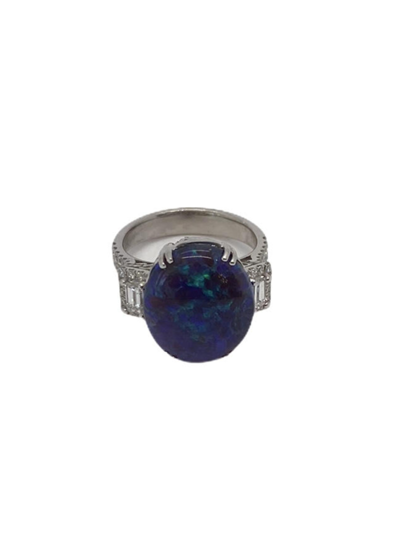 Jill Alberts Vintage Black Opal Ring