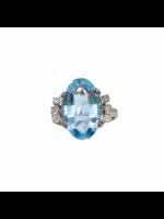 Jill Alberts Large Aquamarine & Diamonds Ring