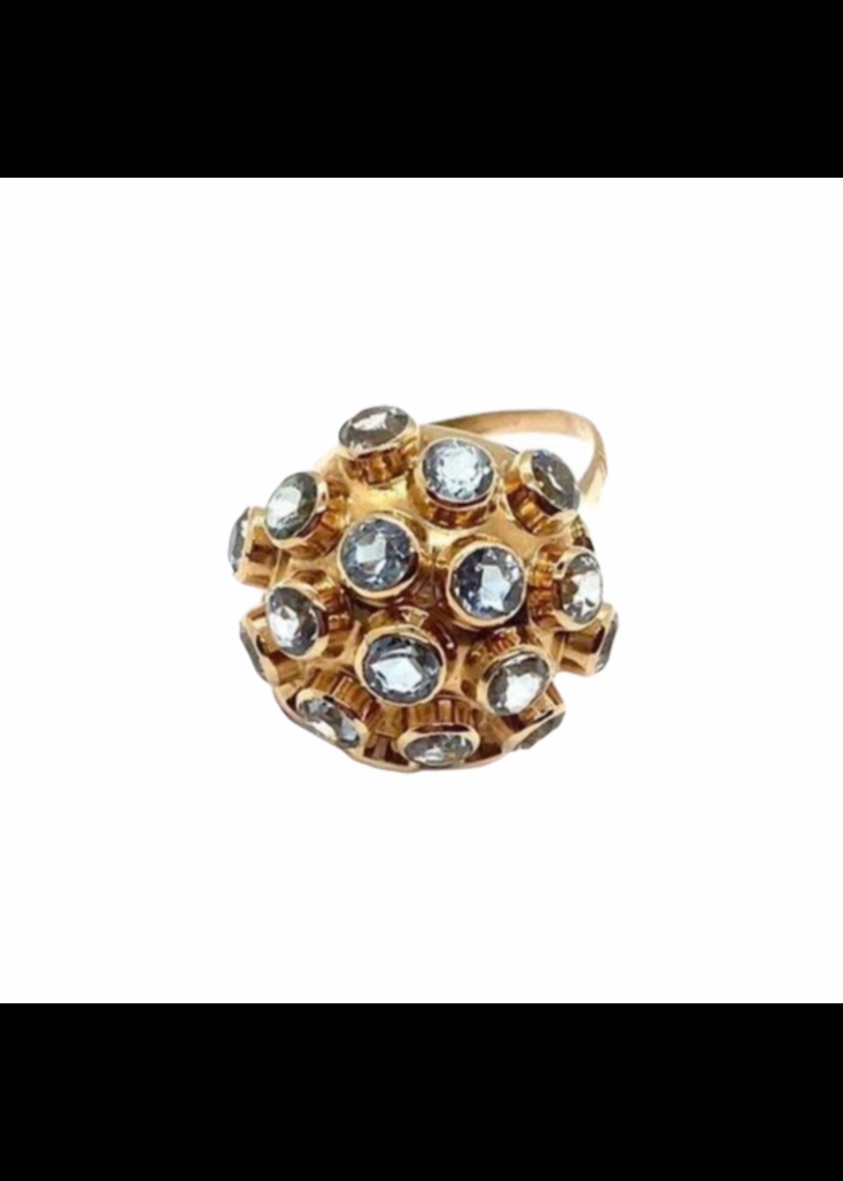 Jill Alberts Aquamarine Sputnik Ring