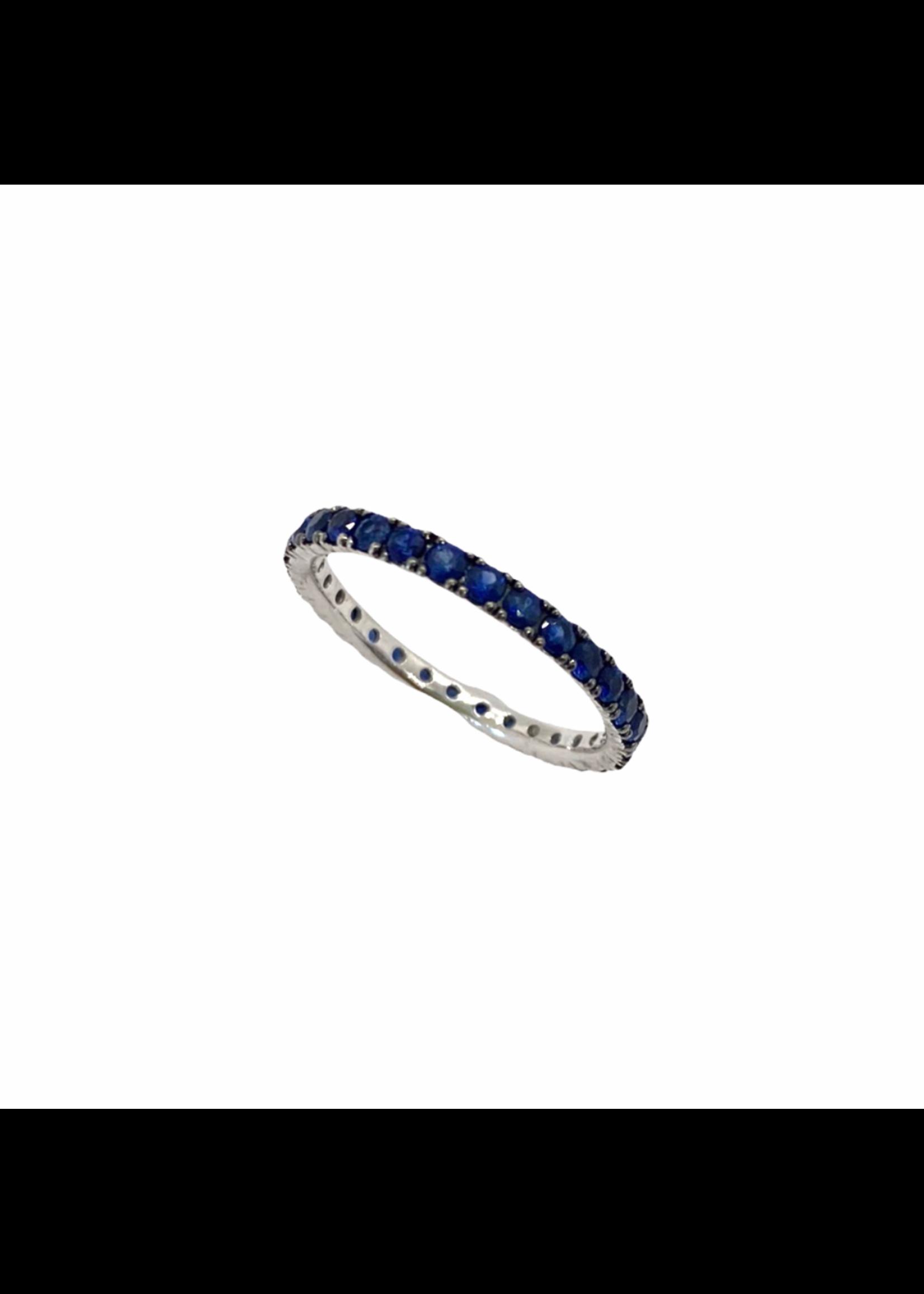 Jill Alberts Blue Sapphire Eternity Ring