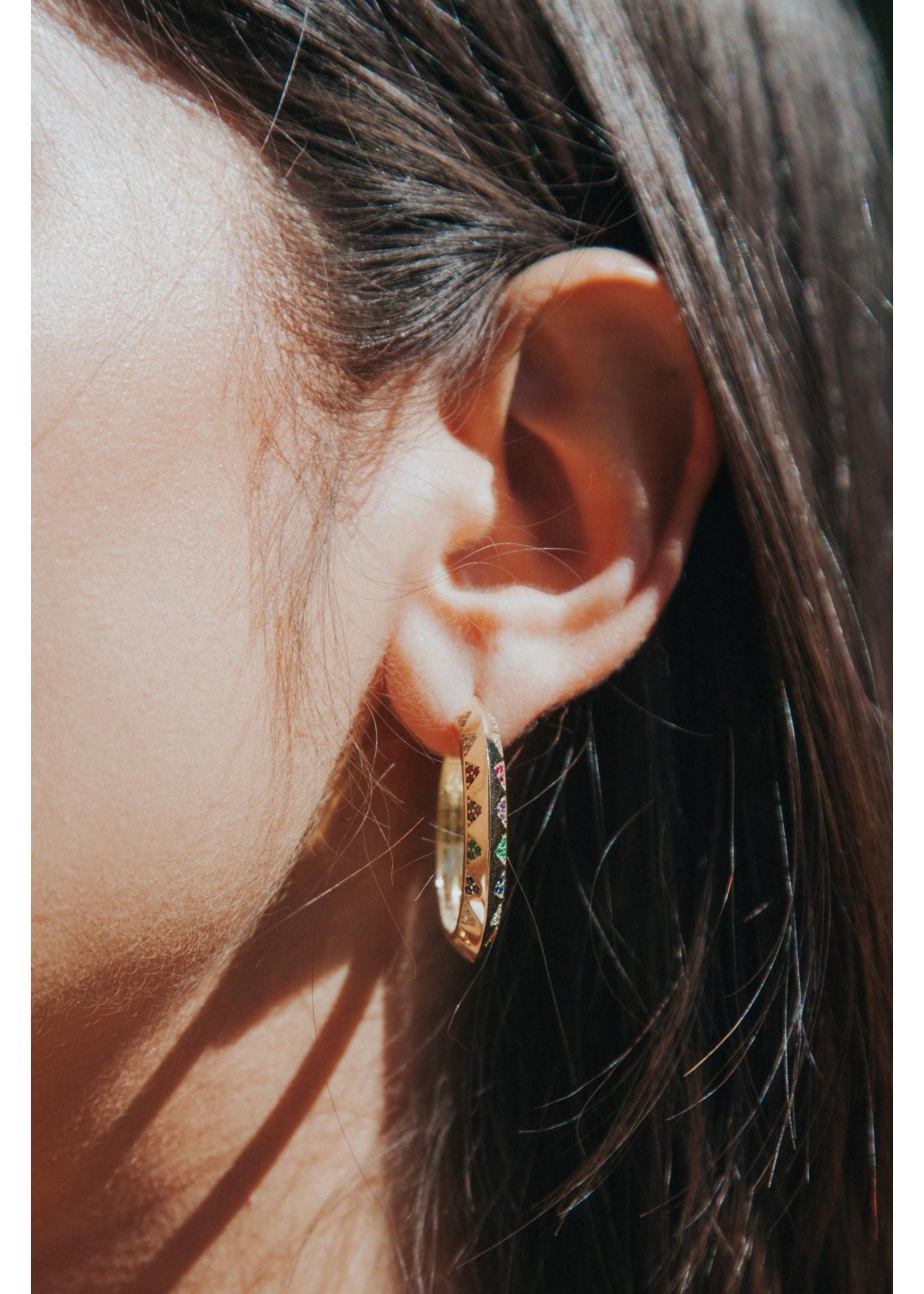 Native Gem Lighting Hoop Earrings