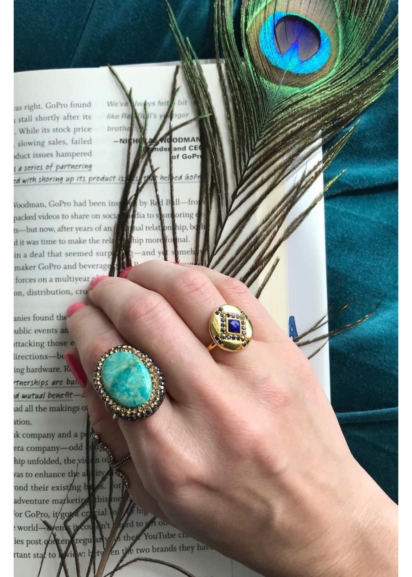 Native Gem Labyrinth Ring