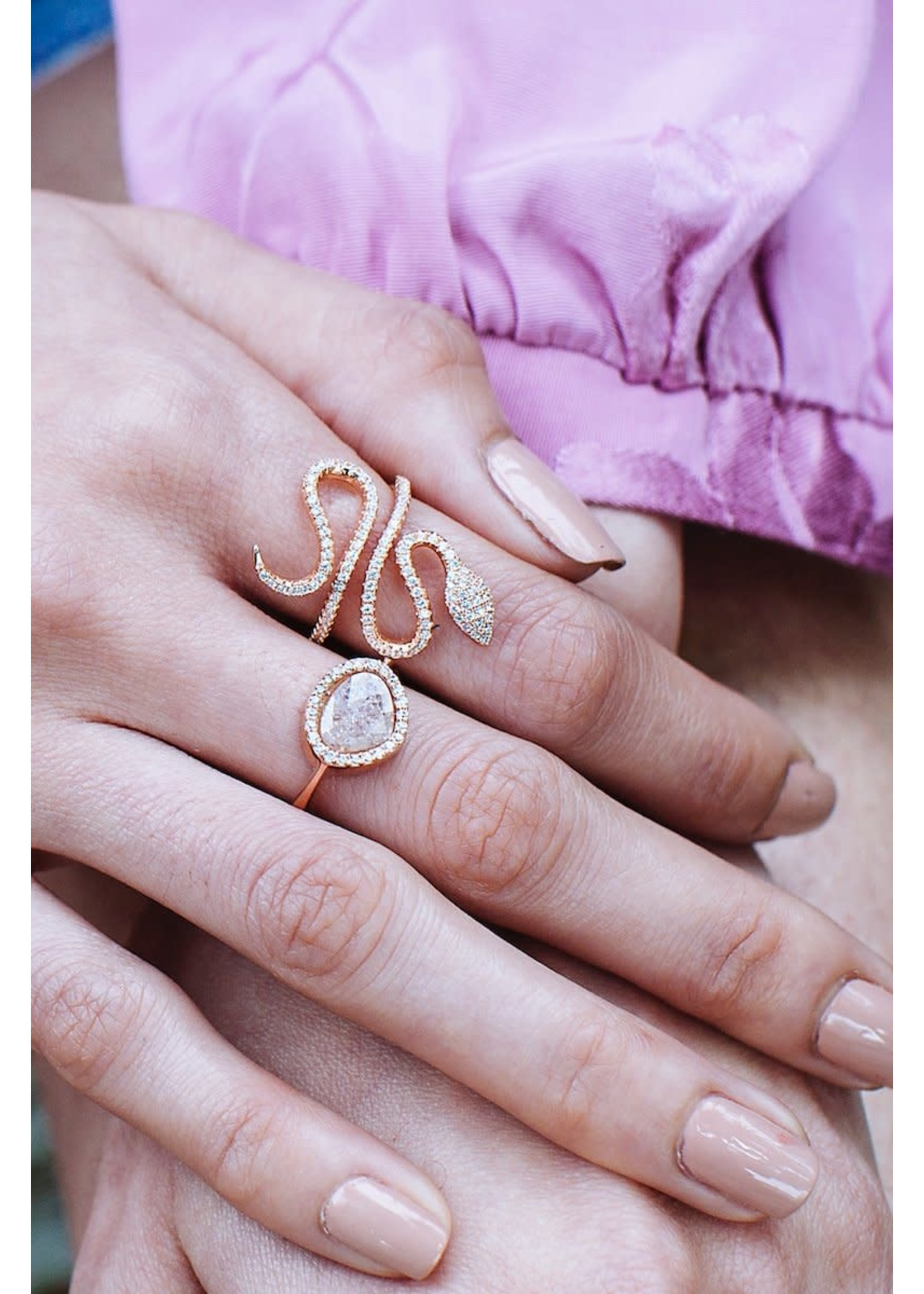 Native Gem Enchanted Snake Ring