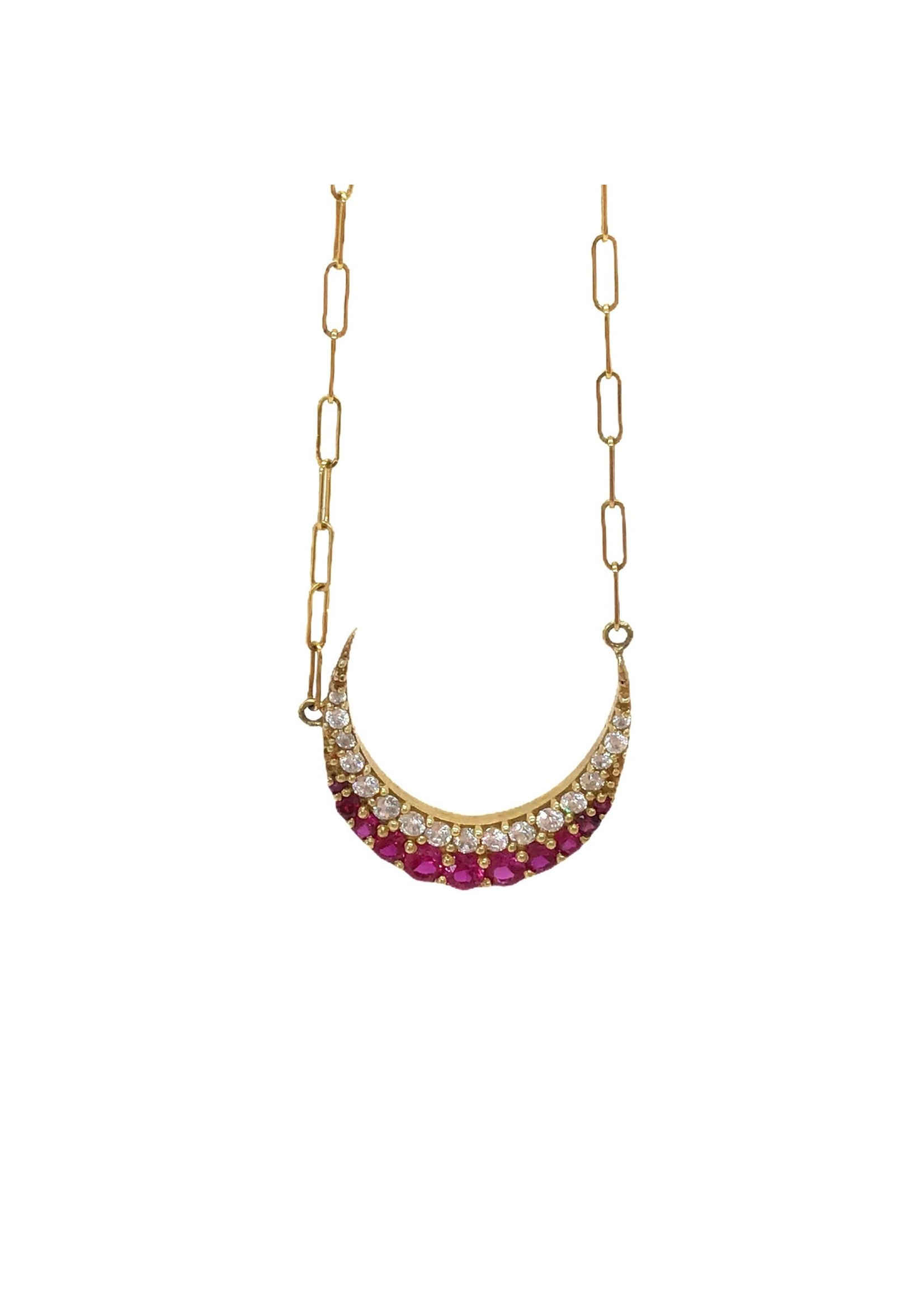 Jill Alberts Vintage Inspired Ruby Crescent