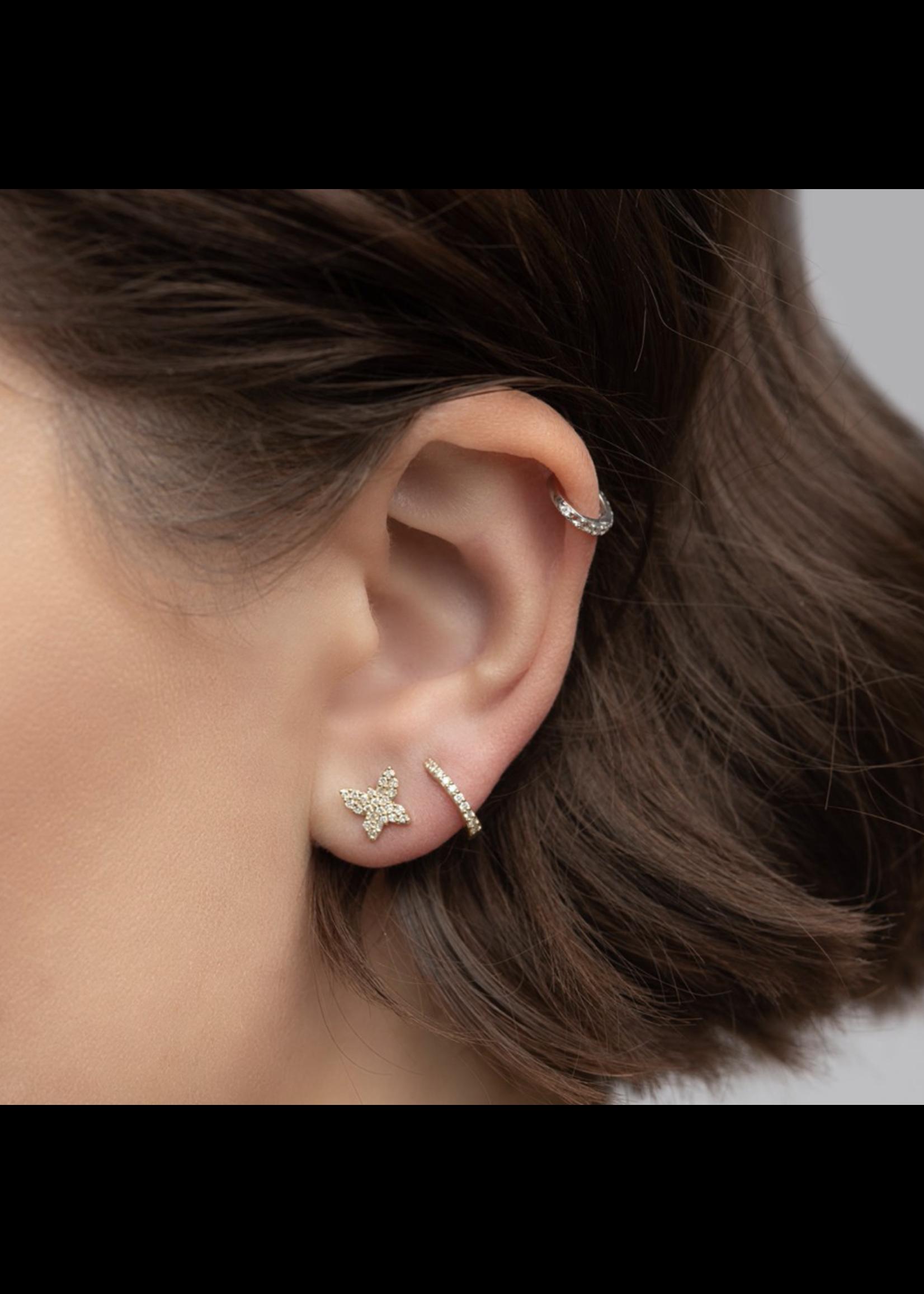 Rachel Reid Butterfly Stud Earrings