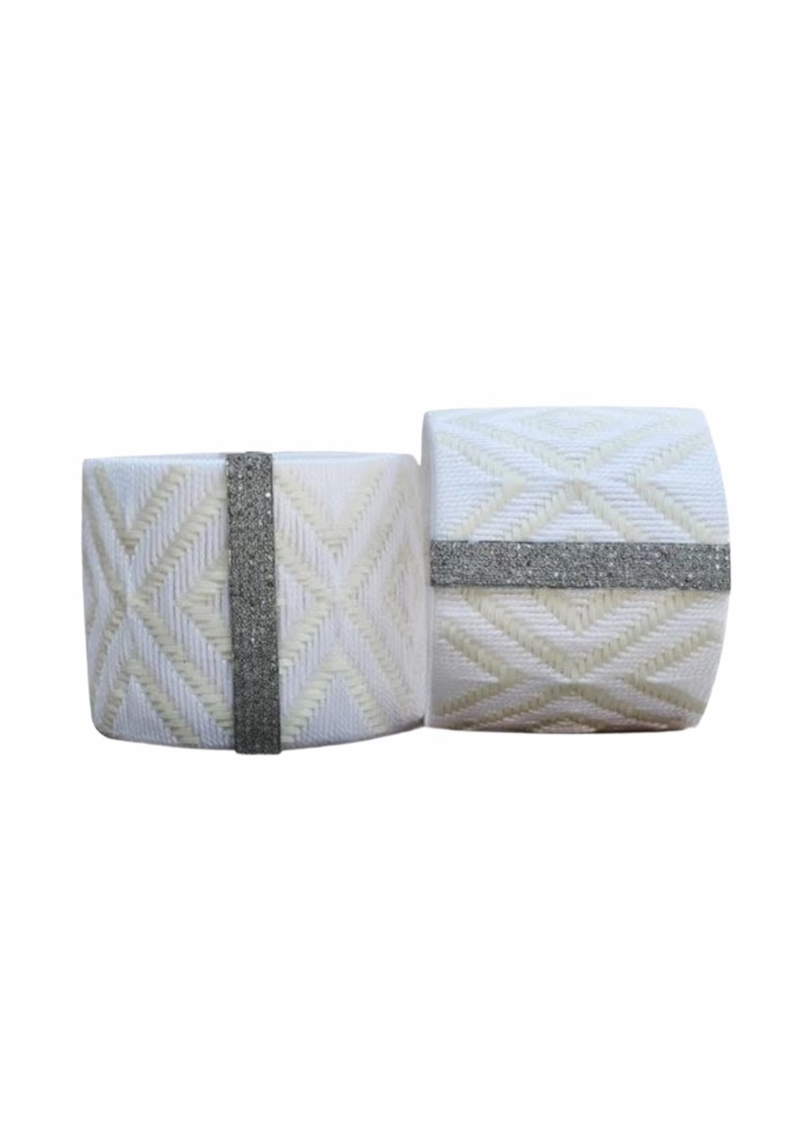 S. Carter Designs Large White Woven Cuff