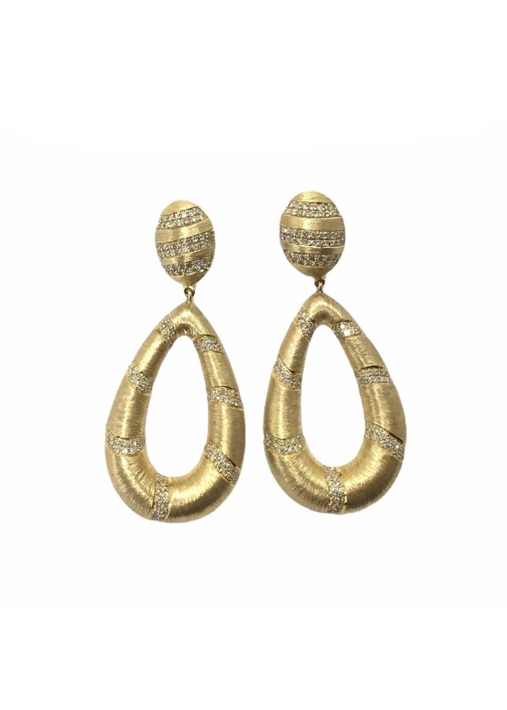 Jill Alberts Diamond Stripe Earrings