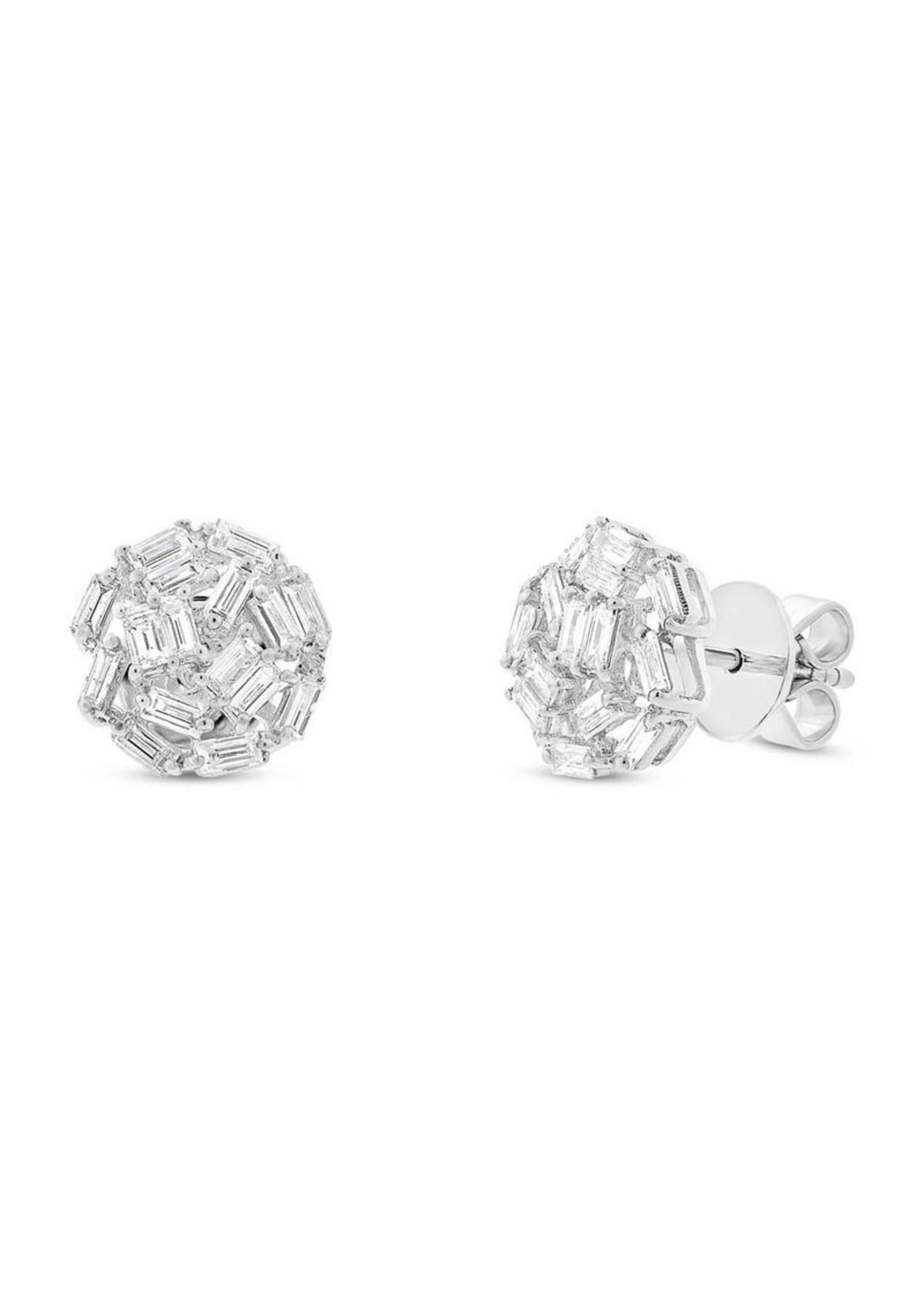 Jill Alberts Baguette Stud Earrings