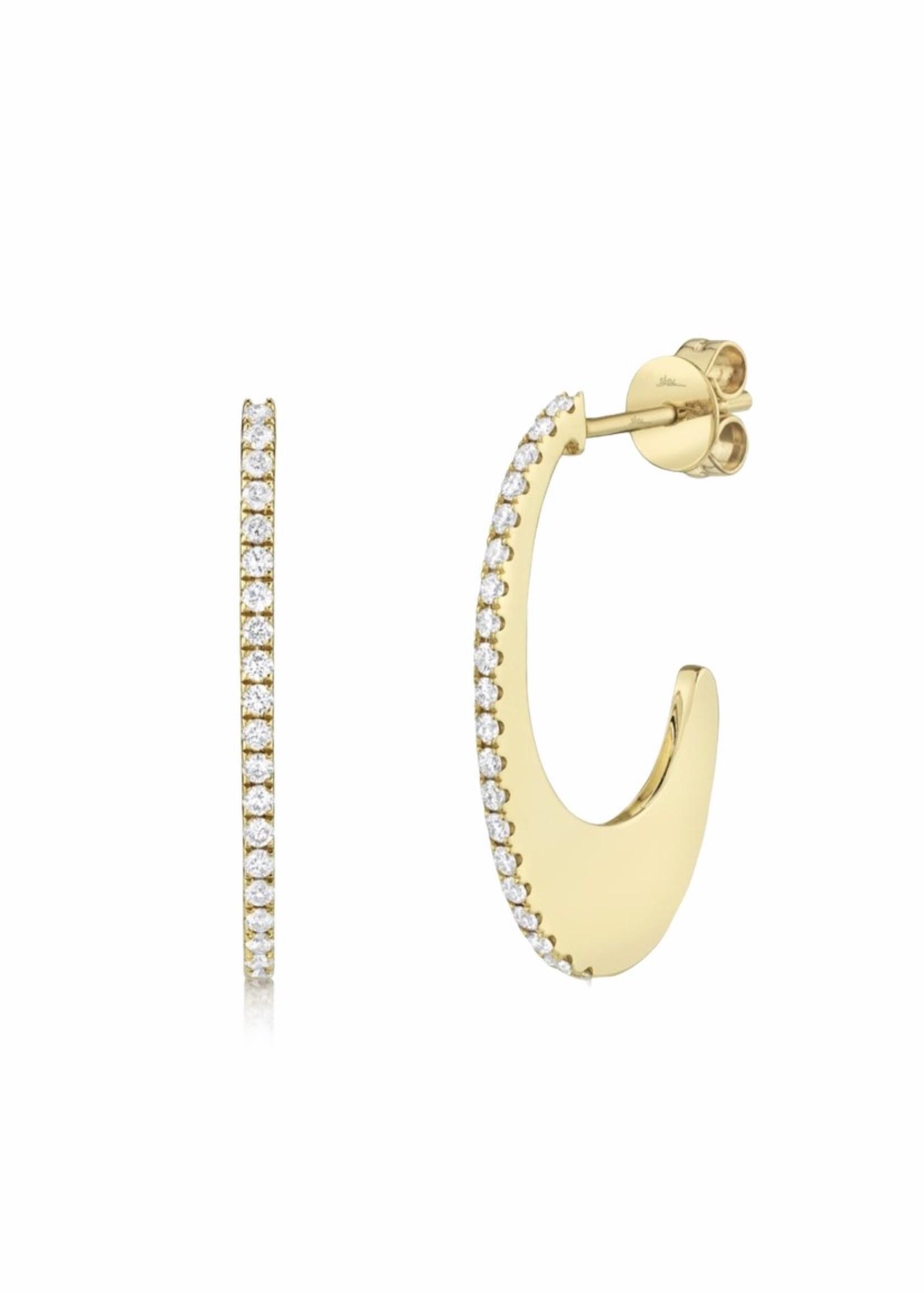 Jill Alberts Diamond Oval Hoop Earring