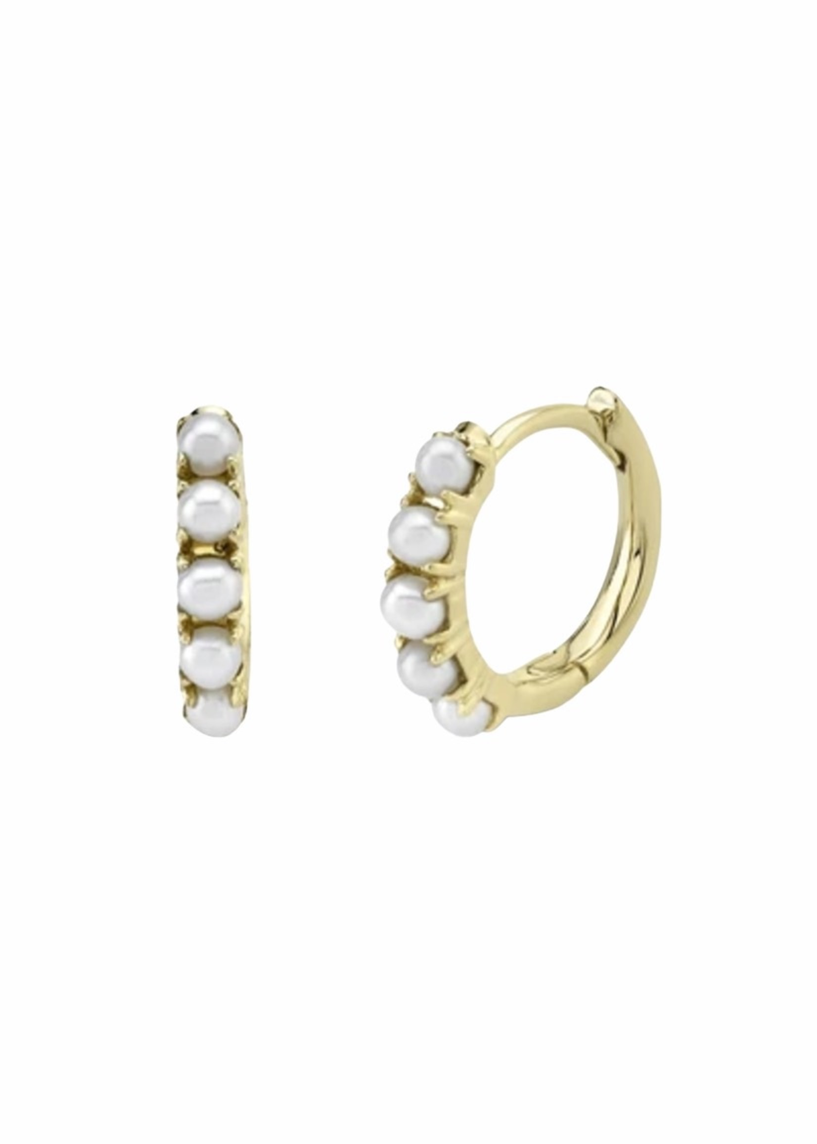 Jill Alberts Freshwater Pearl Huggie Earrings