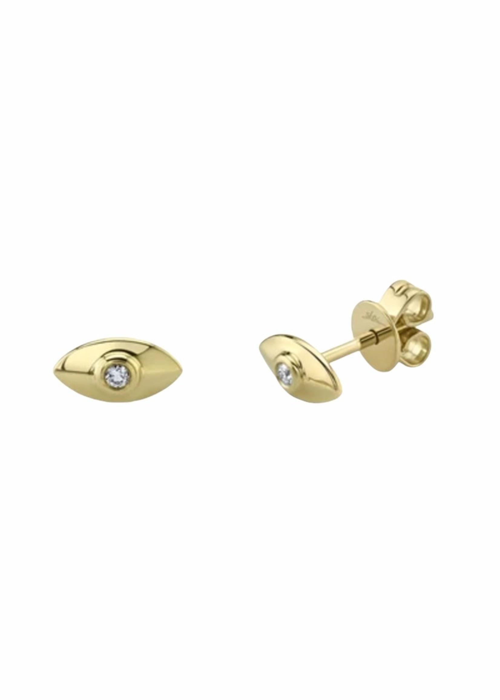 Jill Alberts  Diamond Eye Stud Earrings