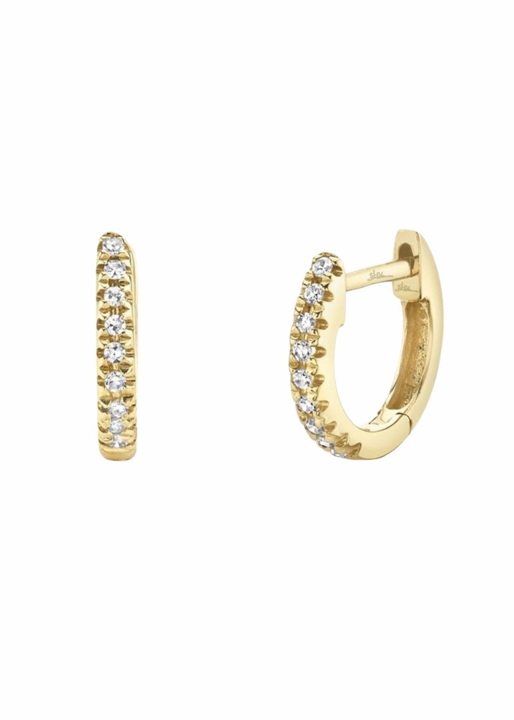 Jill Alberts Mini Diamond Huggie Earrings
