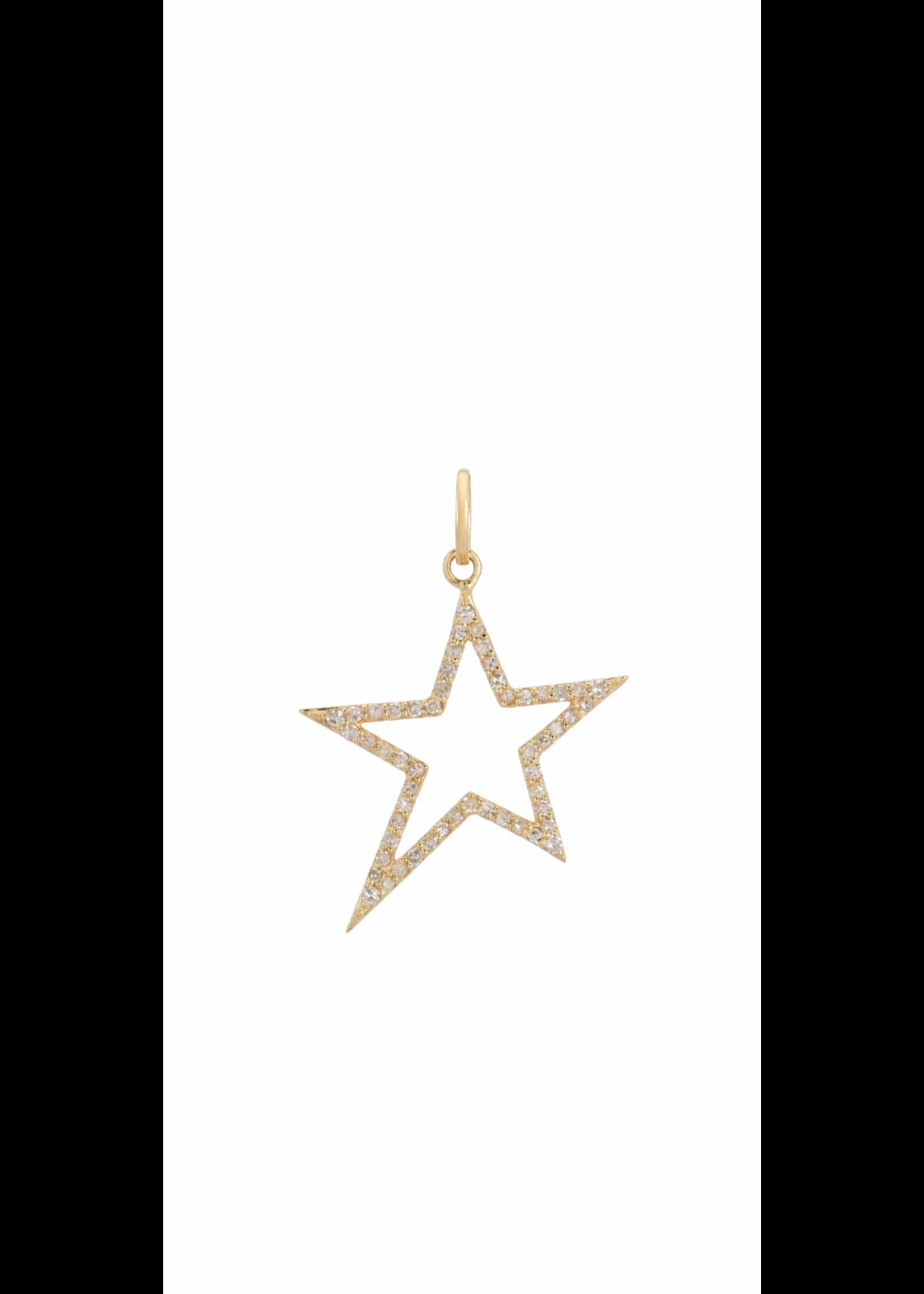 Jill Alberts Gold Diamond Open Star Charm