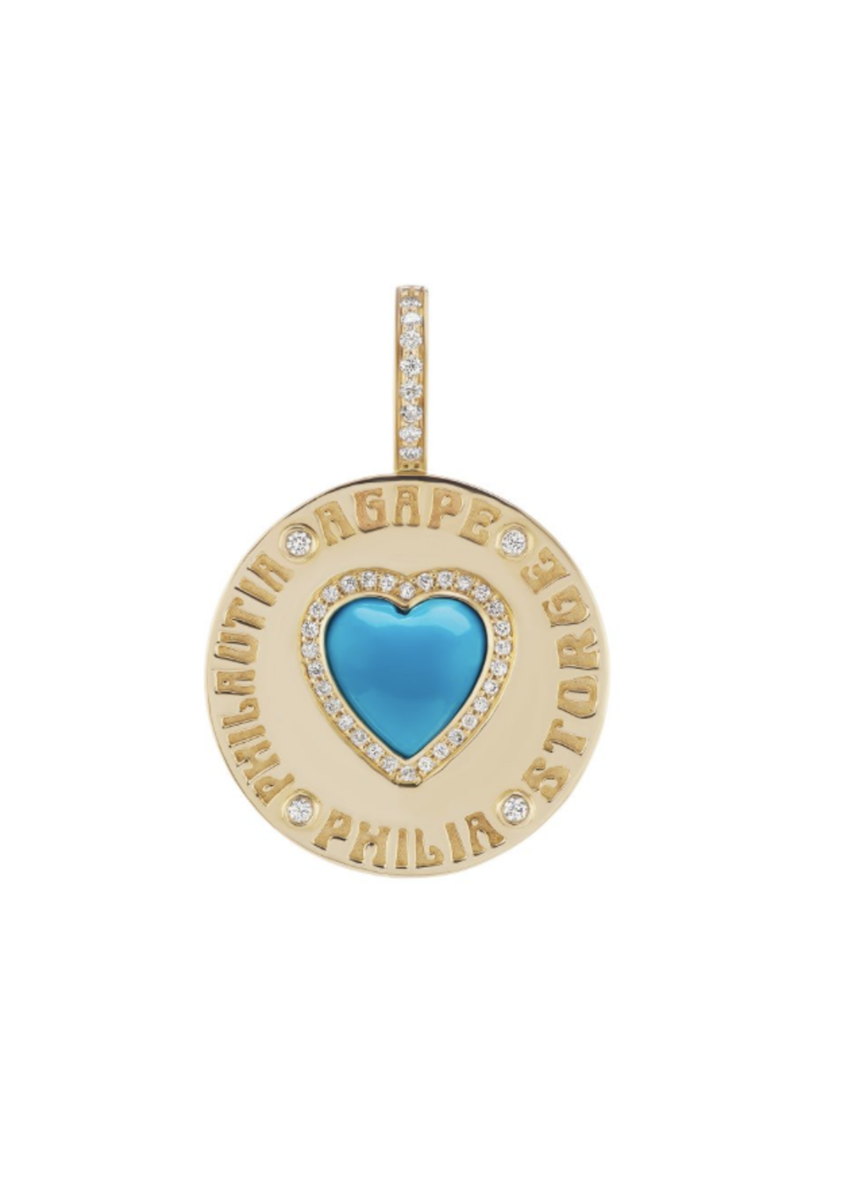 Have a Heart Turquoise Coin Heart Charm