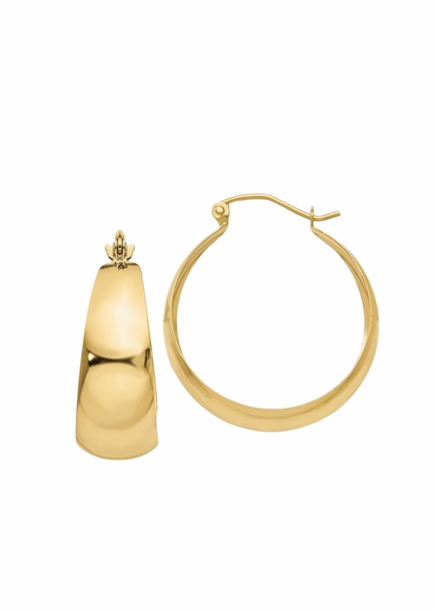Jill Alberts Tapered Hoop Earrings