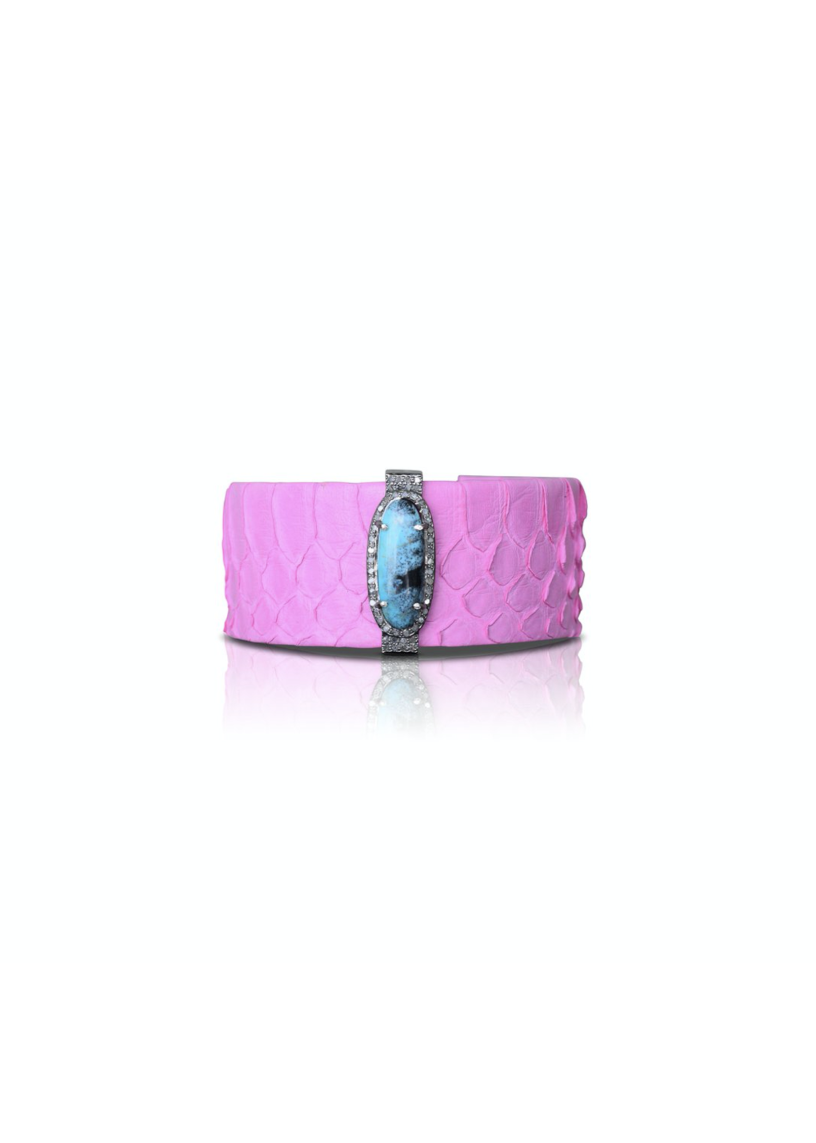 S. Carter Designs Pink Turquoise Python Cuff