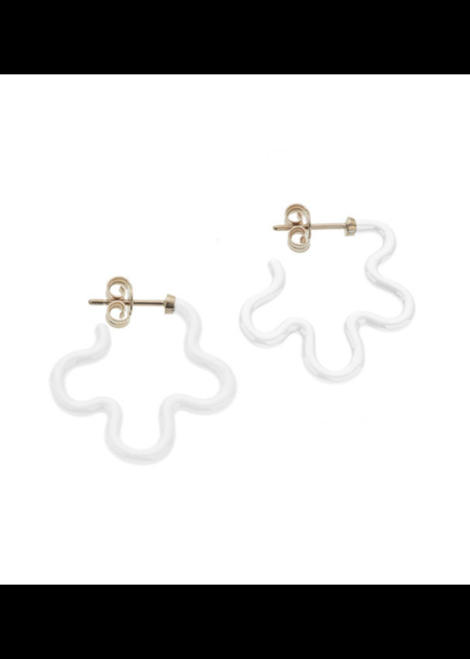Bea Bongiasca White Flower Power Earrings