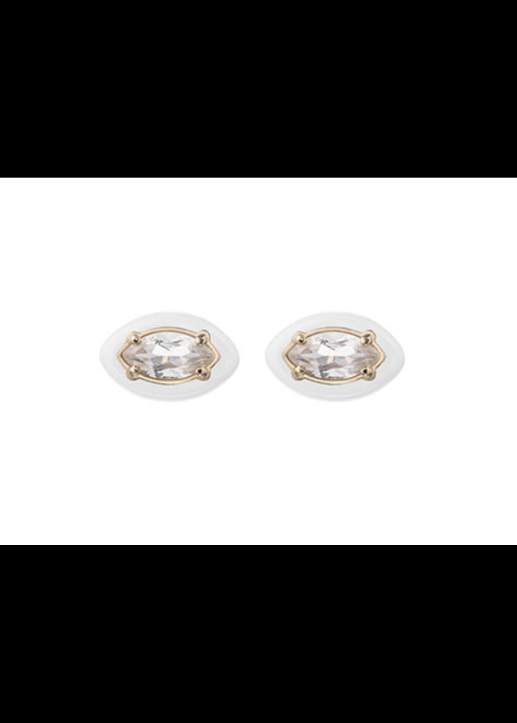 Bea Bongiasca White Sweetness Earrings