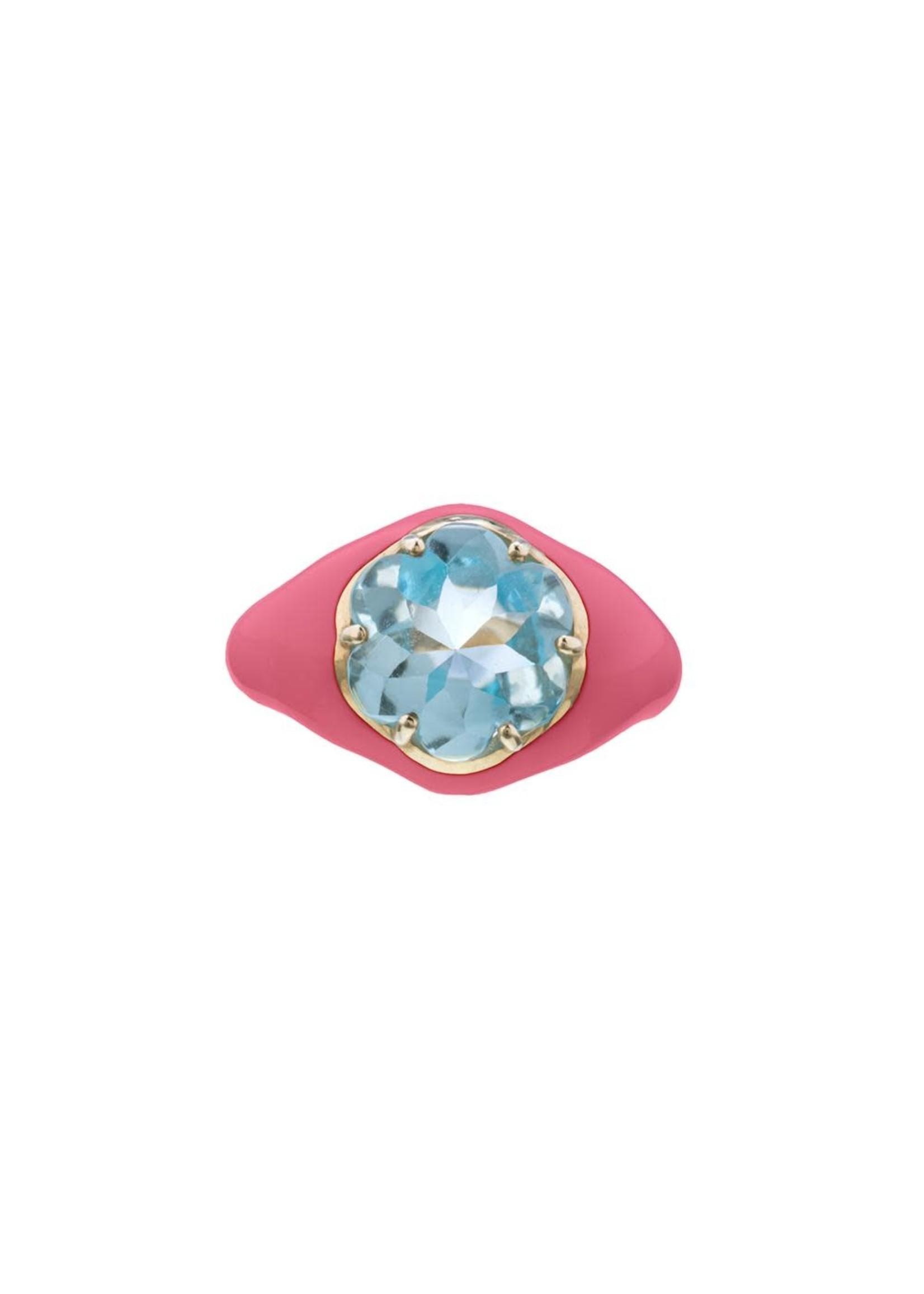 Bea Bongiasca Hot Pink Funkadelic Ring