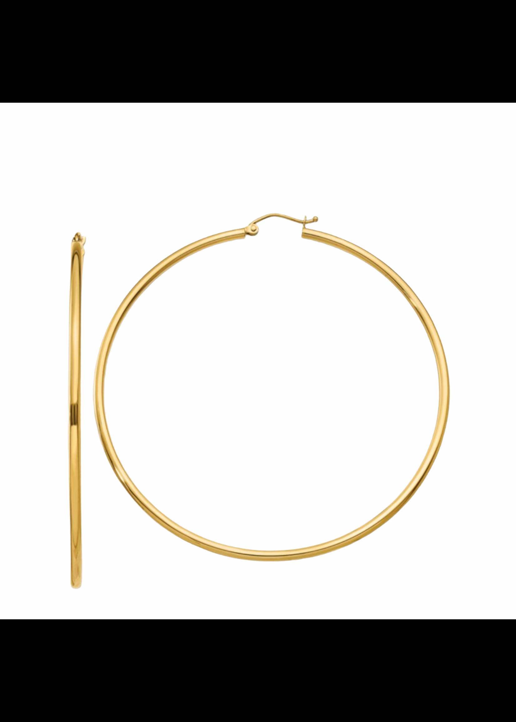 Jill Alberts Tube Hoop Earrings