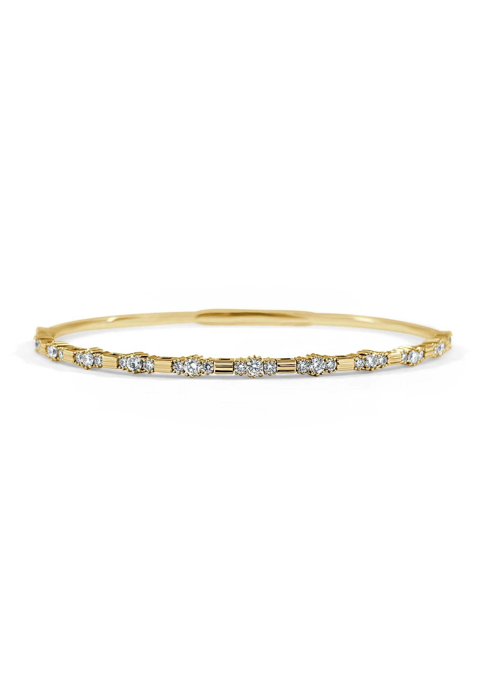 Jill Alberts Diamond Flexible Bangle