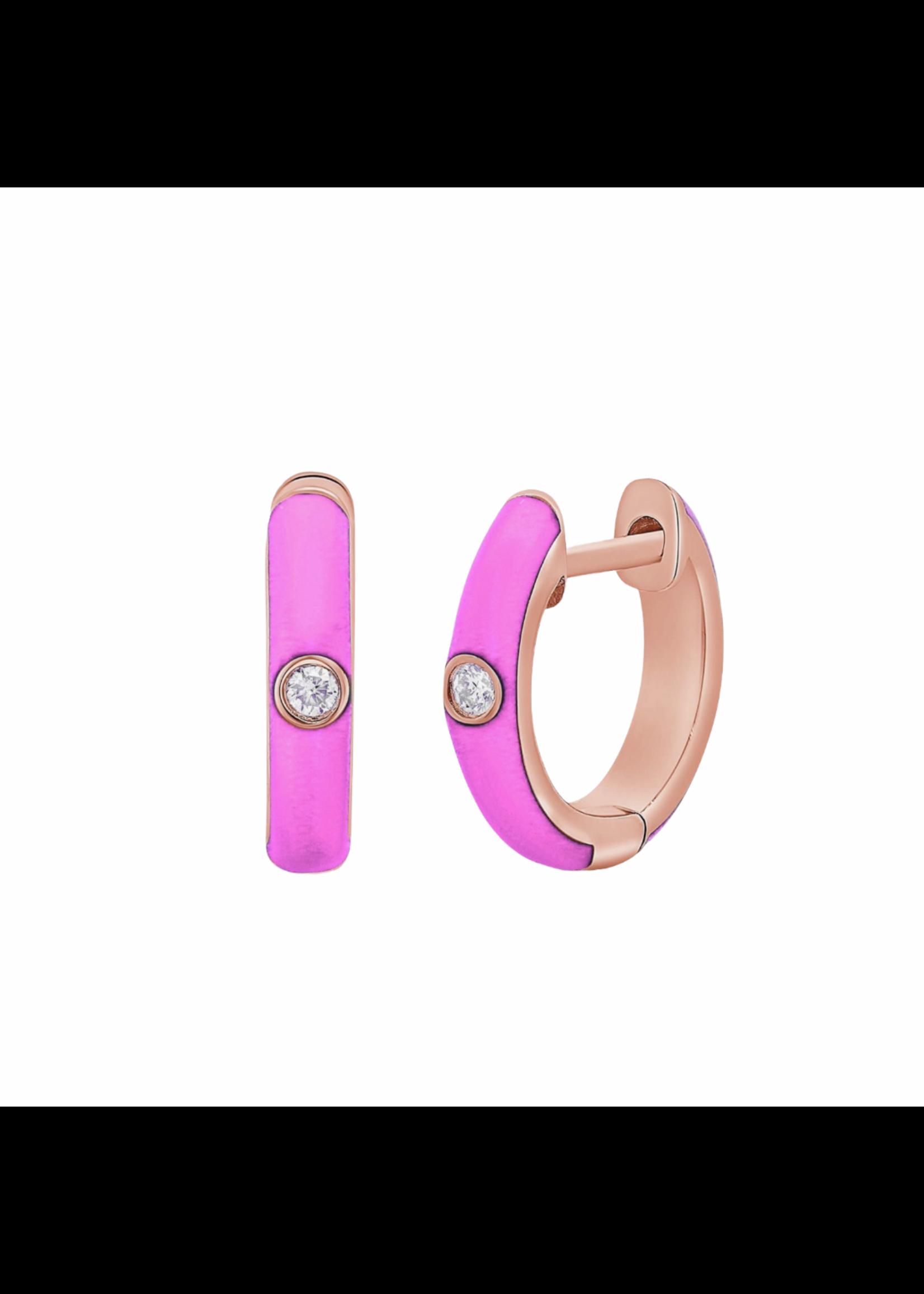 Jill Alberts Pink Diamond Huggies