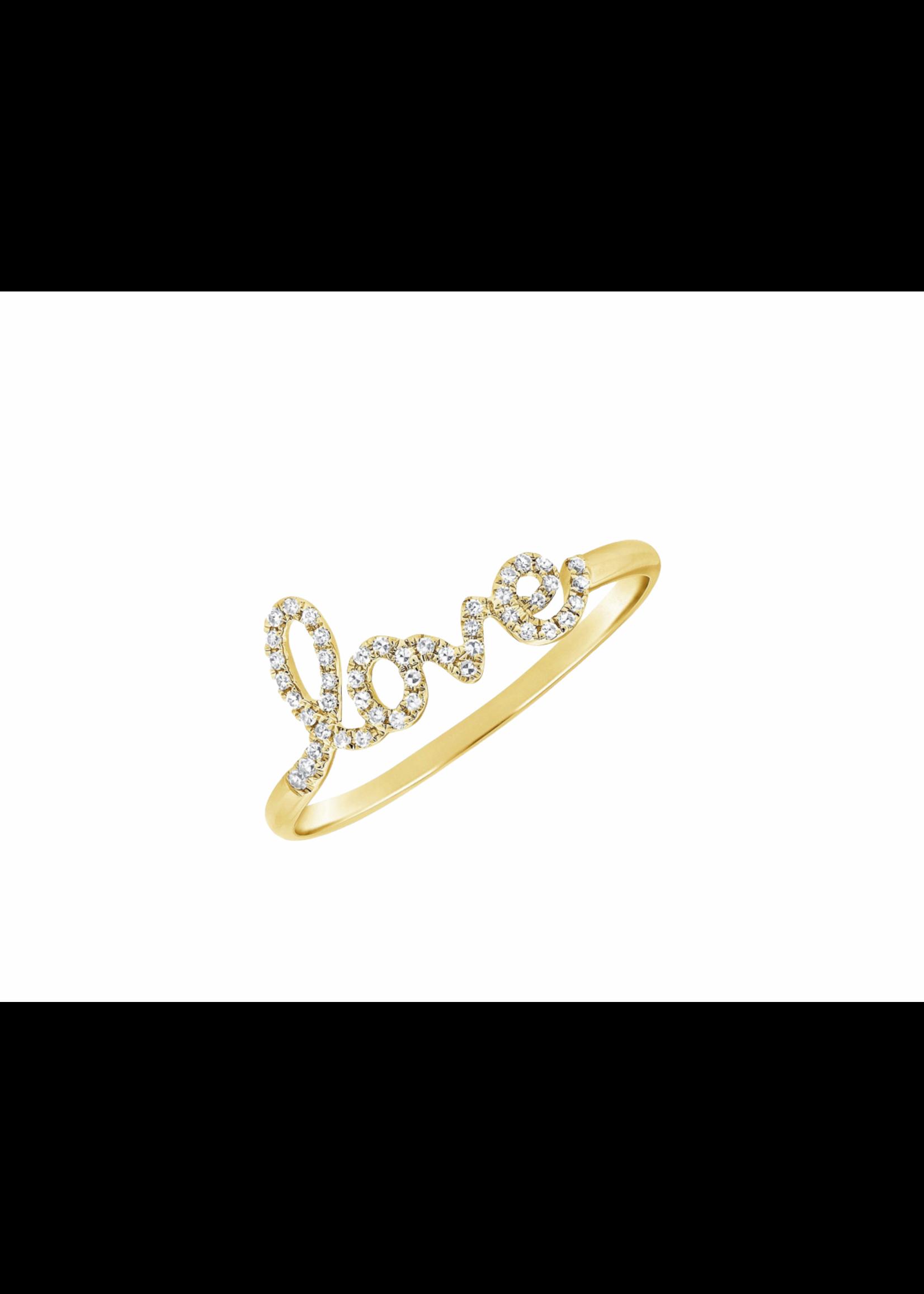 Jill Alberts Diamond Script Love Ring