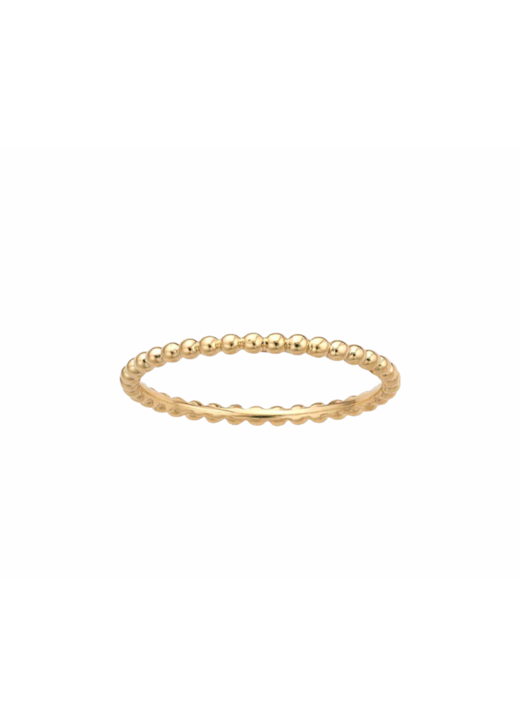 Jill Alberts Yellow Gold Beaded Band Ring
