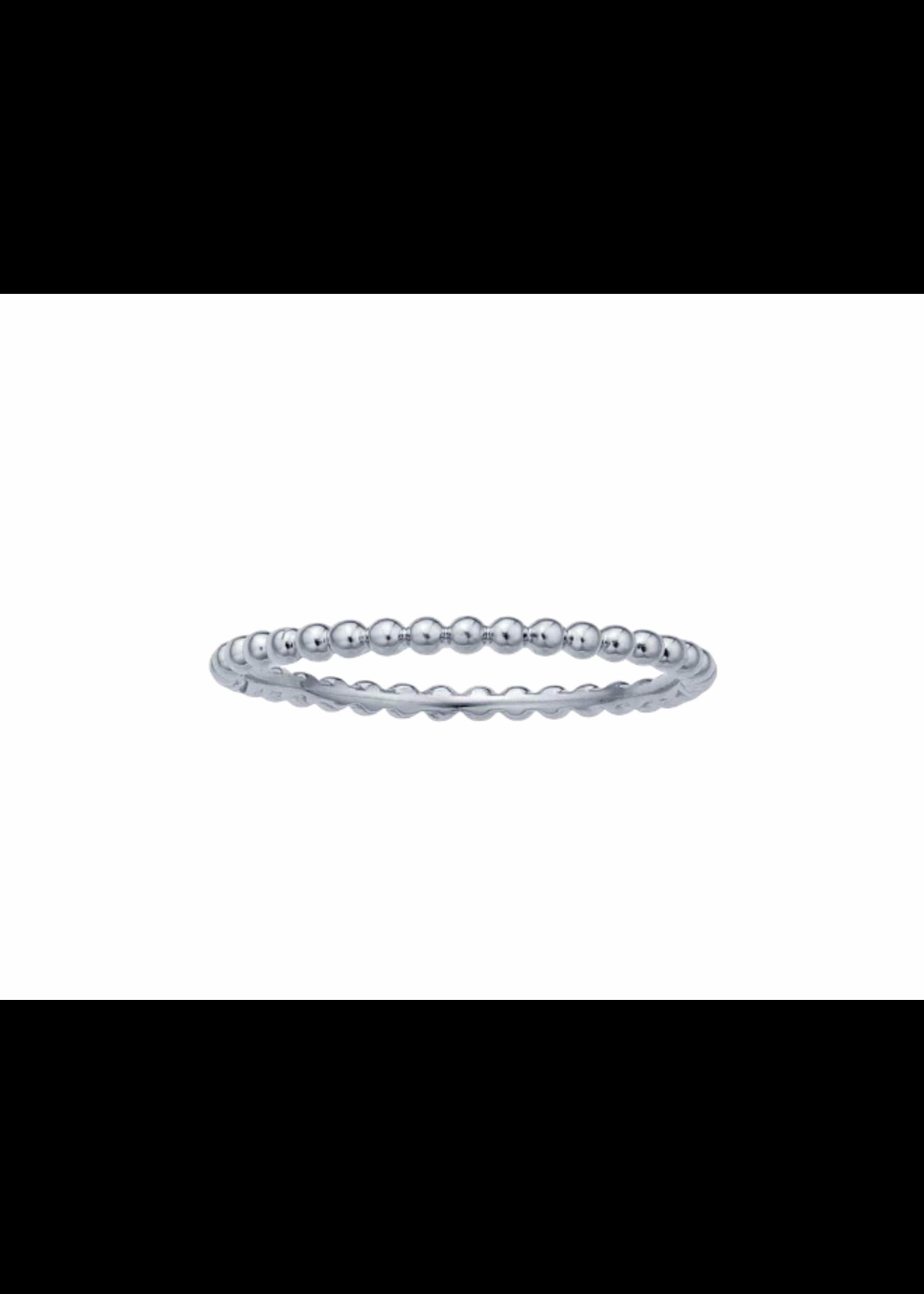 Jill Alberts White Gold Beaded Ring
