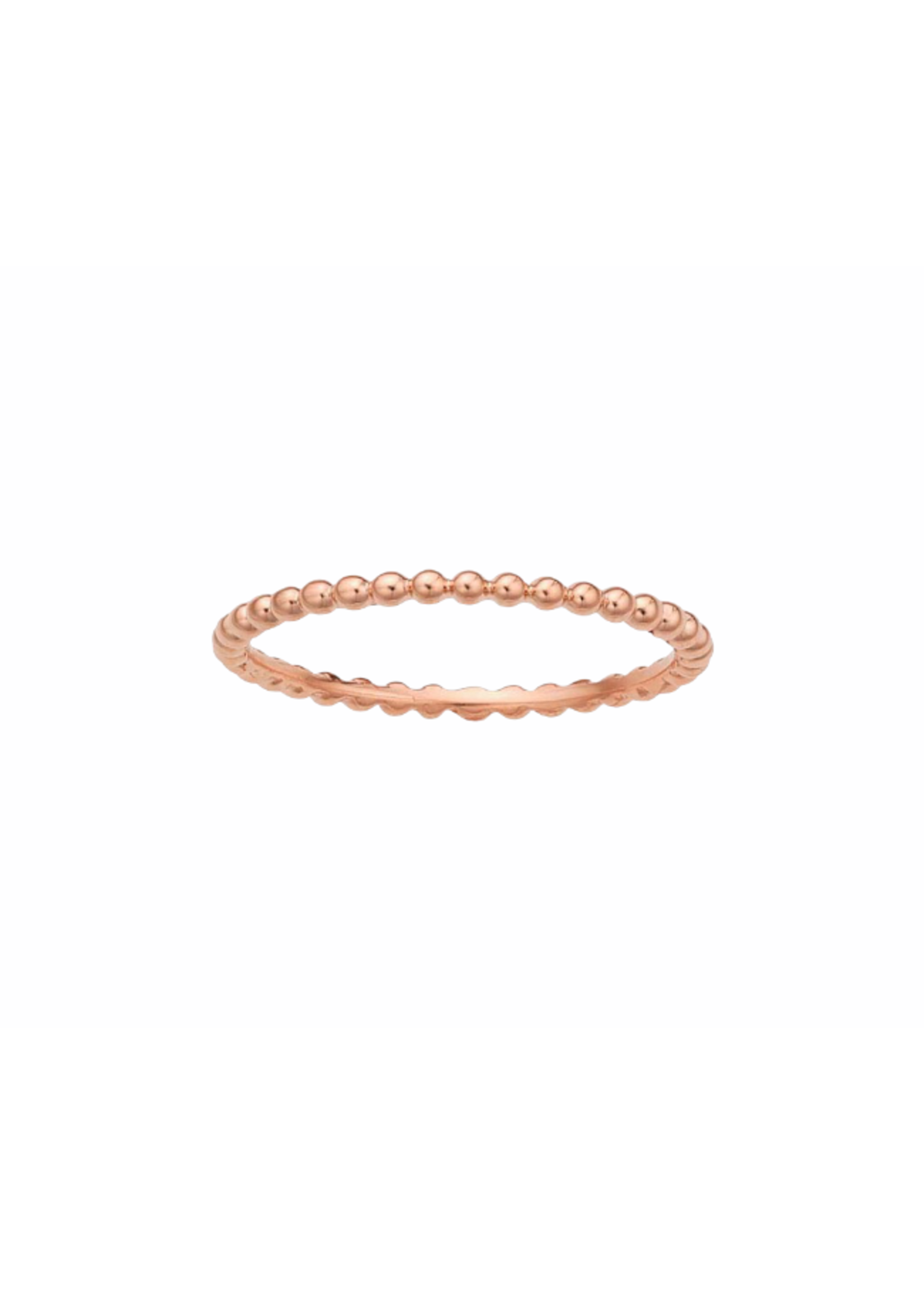 Jill Alberts Rose Gold Beaded Ring