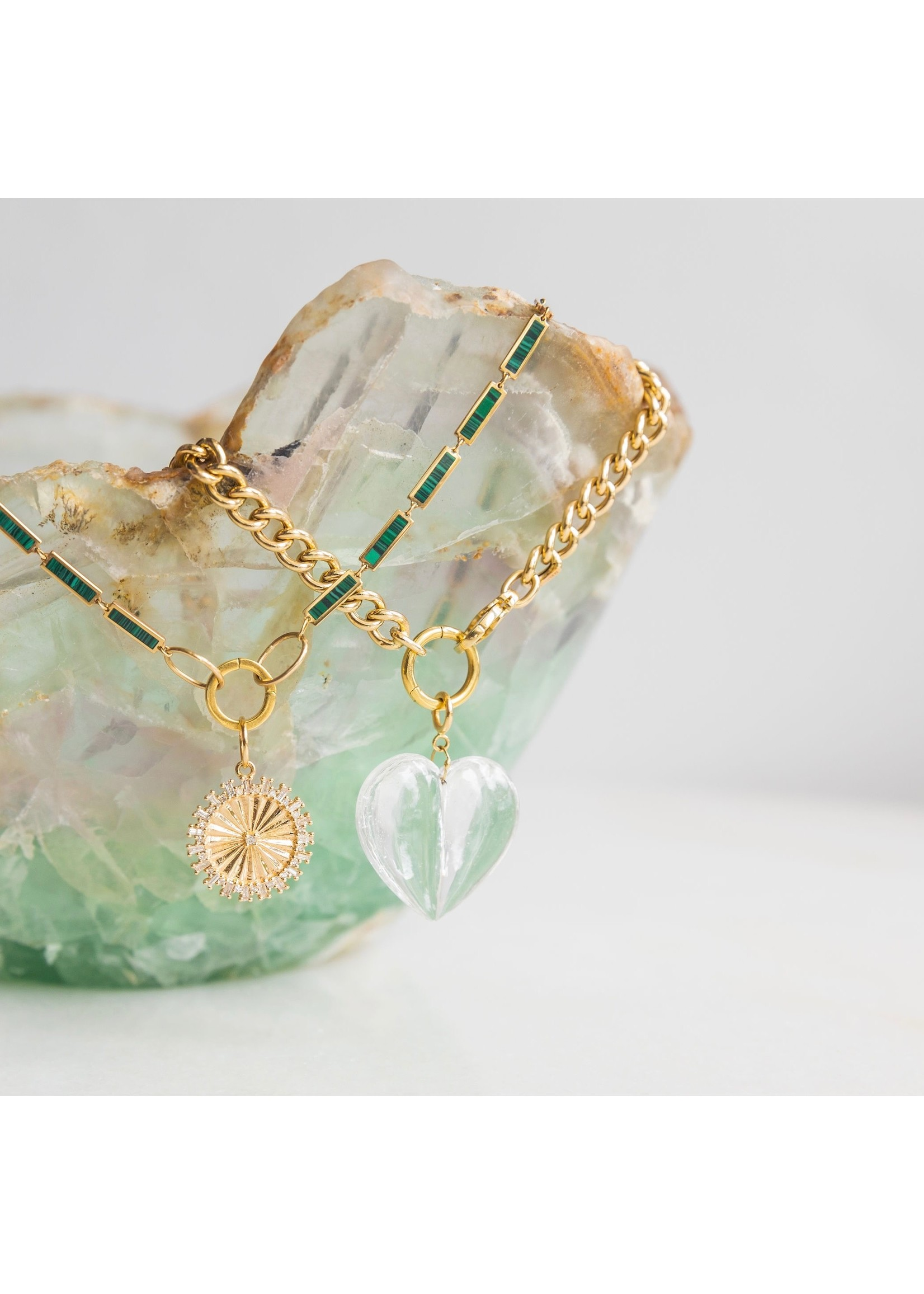 Ten Thousand Things Mini Split Crystal Heart Charm