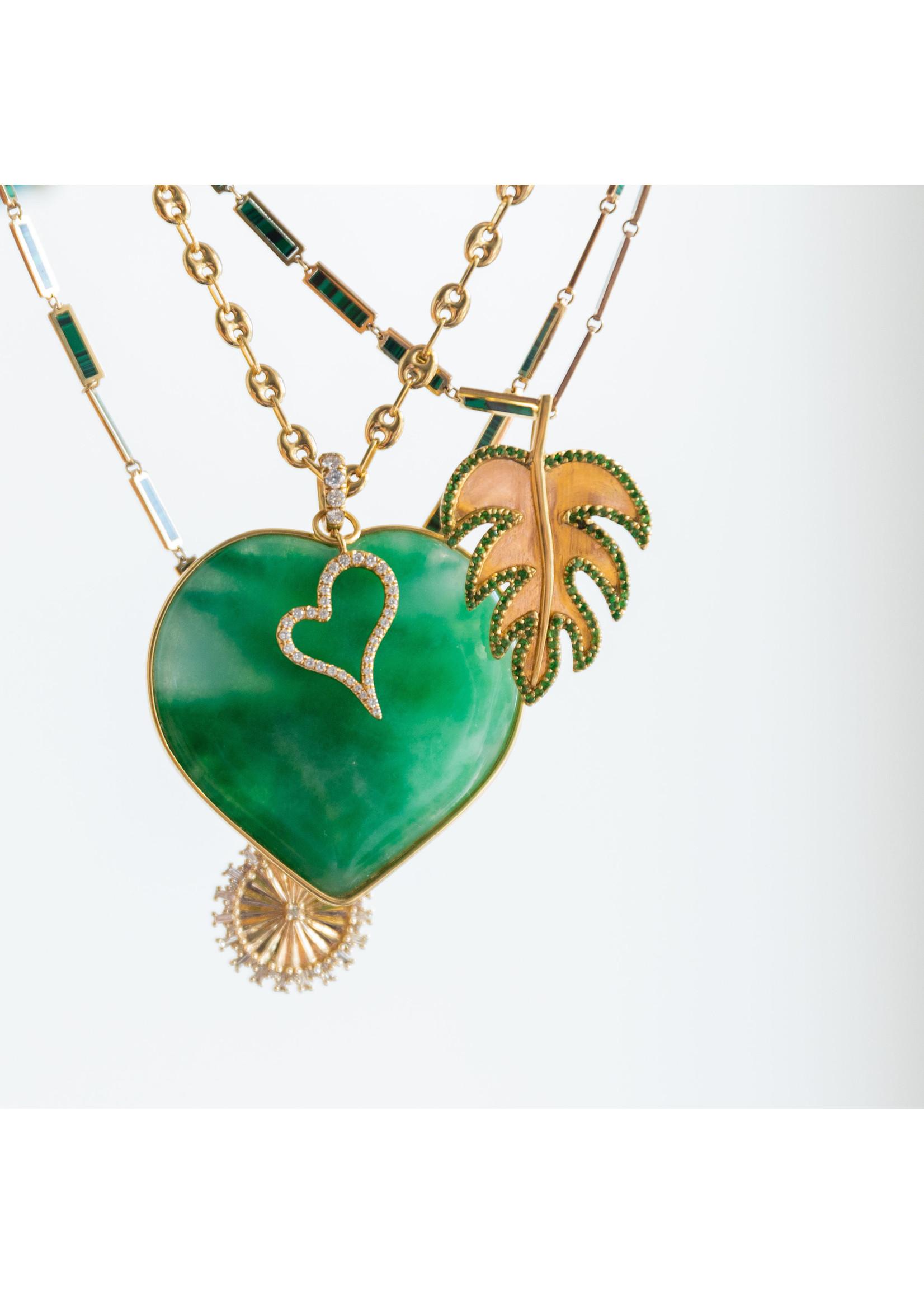 Have a Heart Adam's Rib Charm with Tsavorite