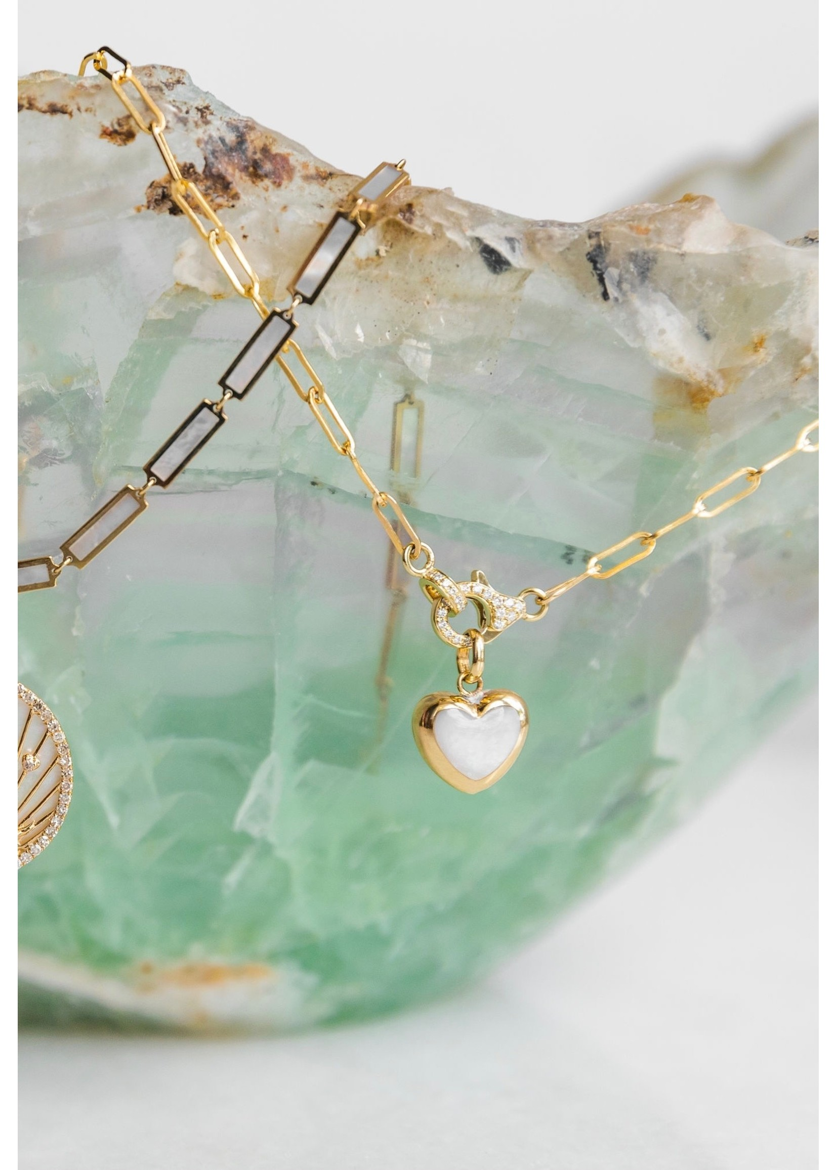 Jill Alberts Diamond Paperclip Link Necklace