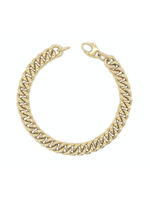 Jill Alberts Gold Curb Link Bracelet