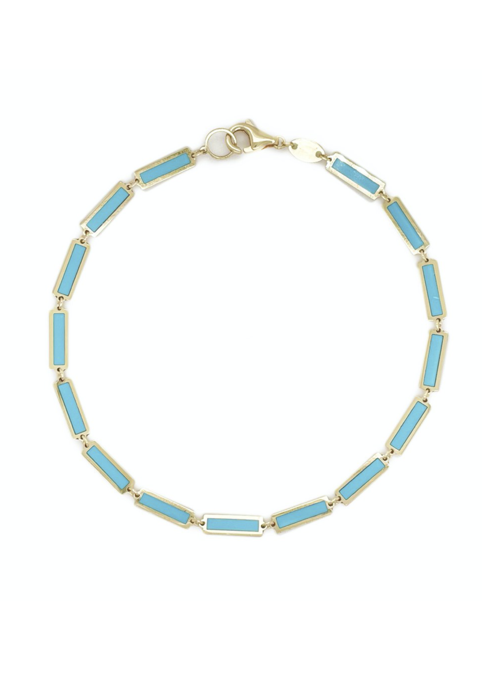 Jill Alberts Turquoise Bar Bracelet