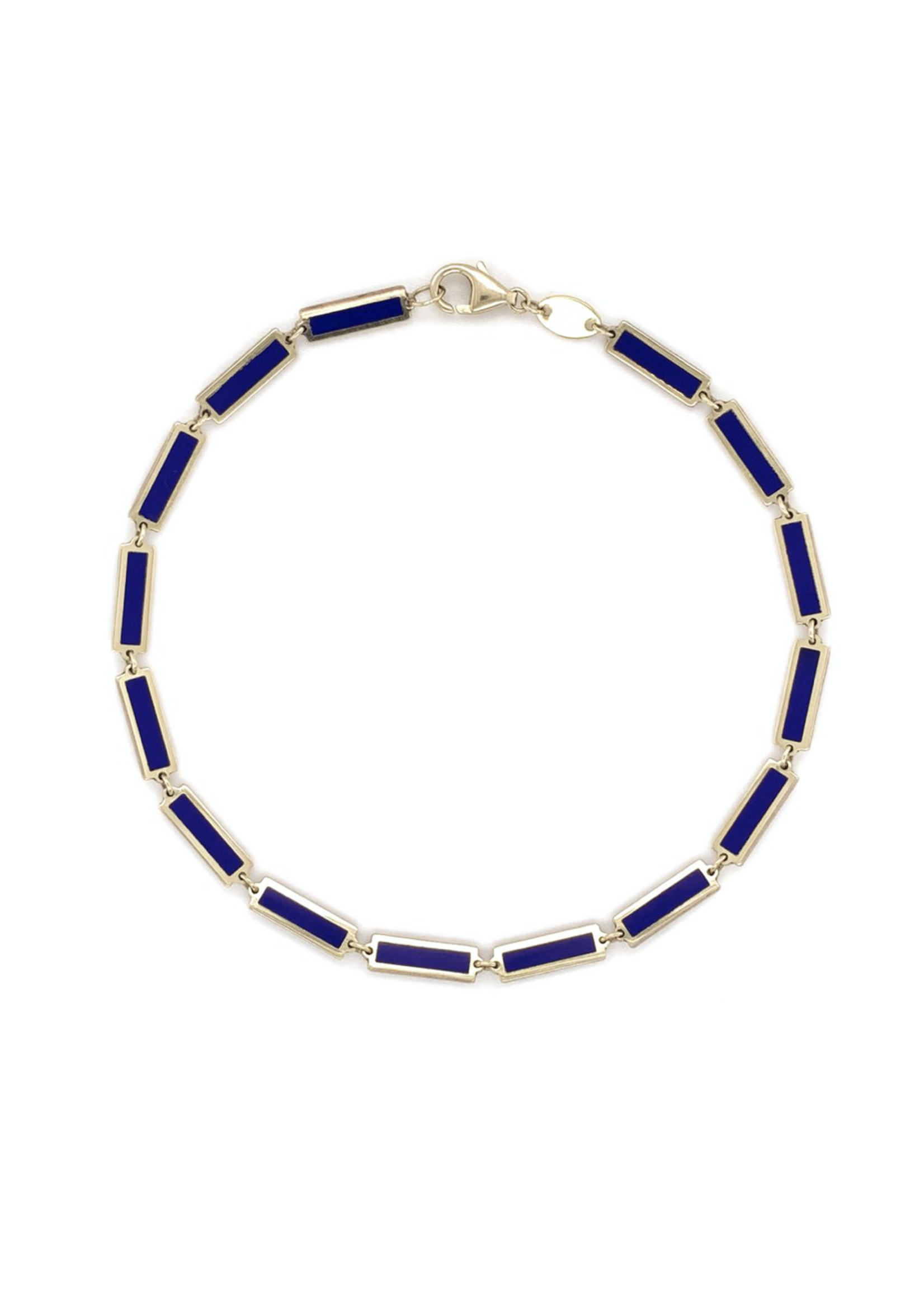 Jill Alberts Lapis Bar Bracelet