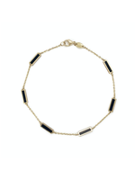 Jill Alberts Black Station Bar Bracelet