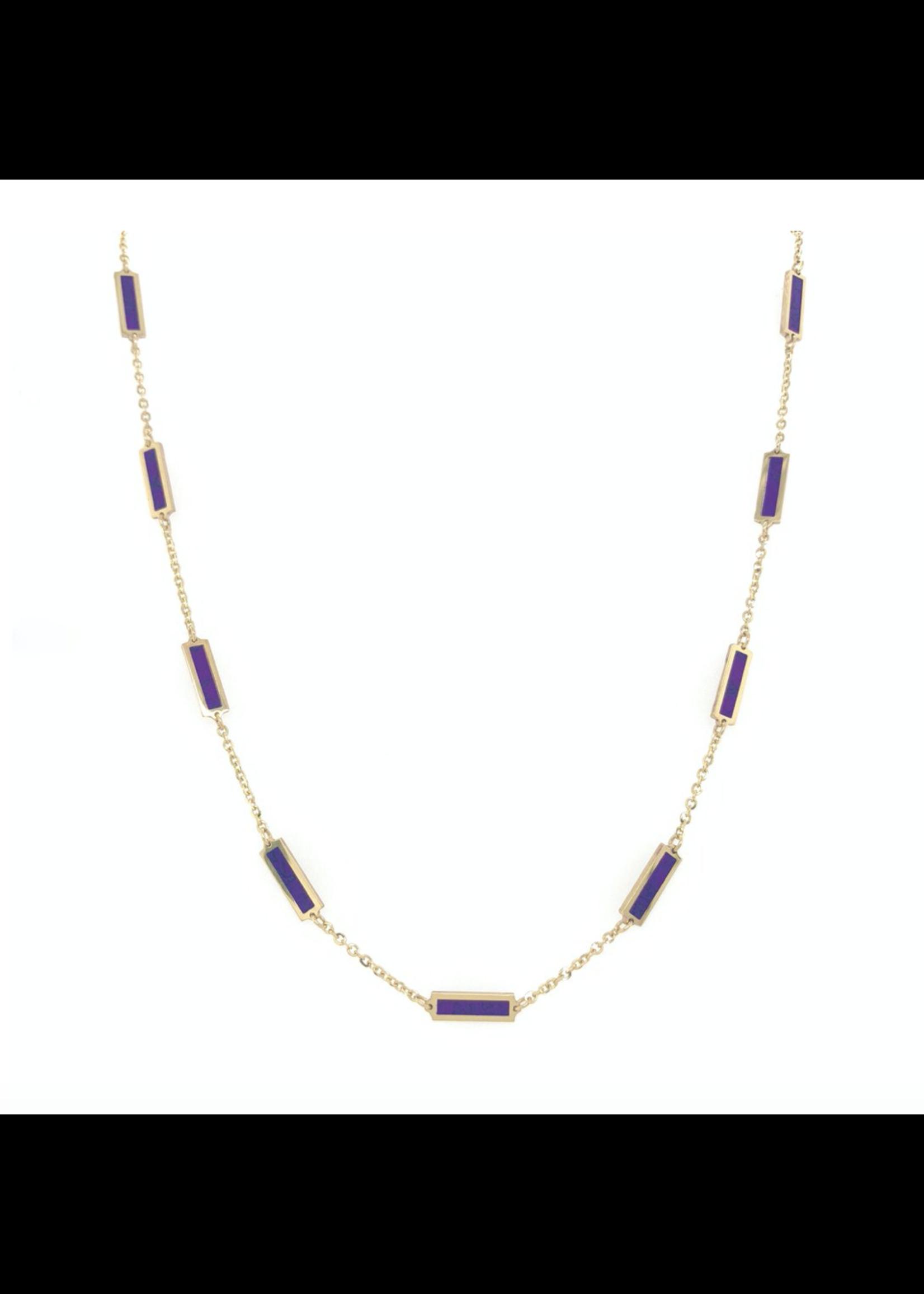 Jill Alberts Amethyst Bar Station Necklace