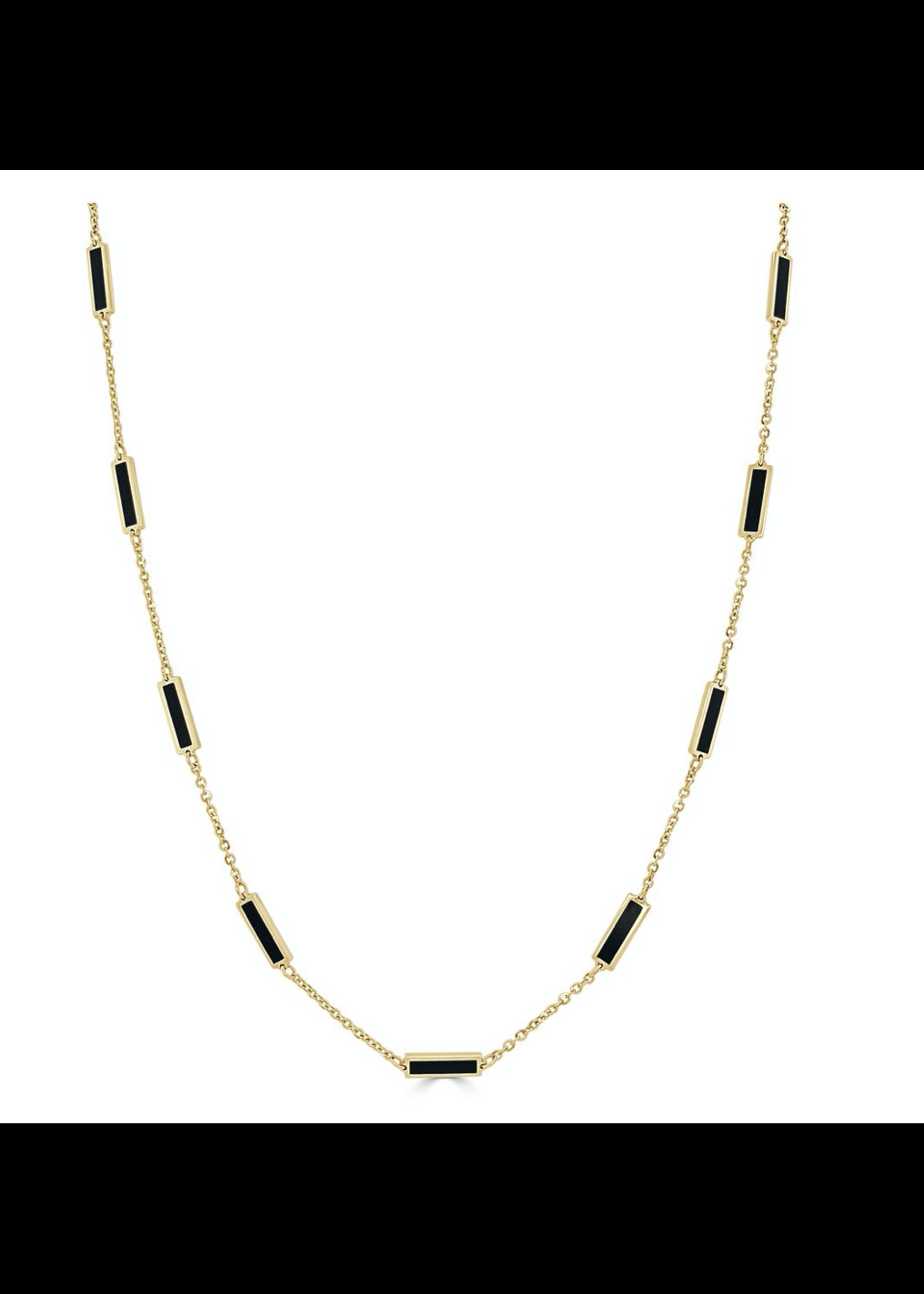 Jill Alberts Onyx  Station Necklace