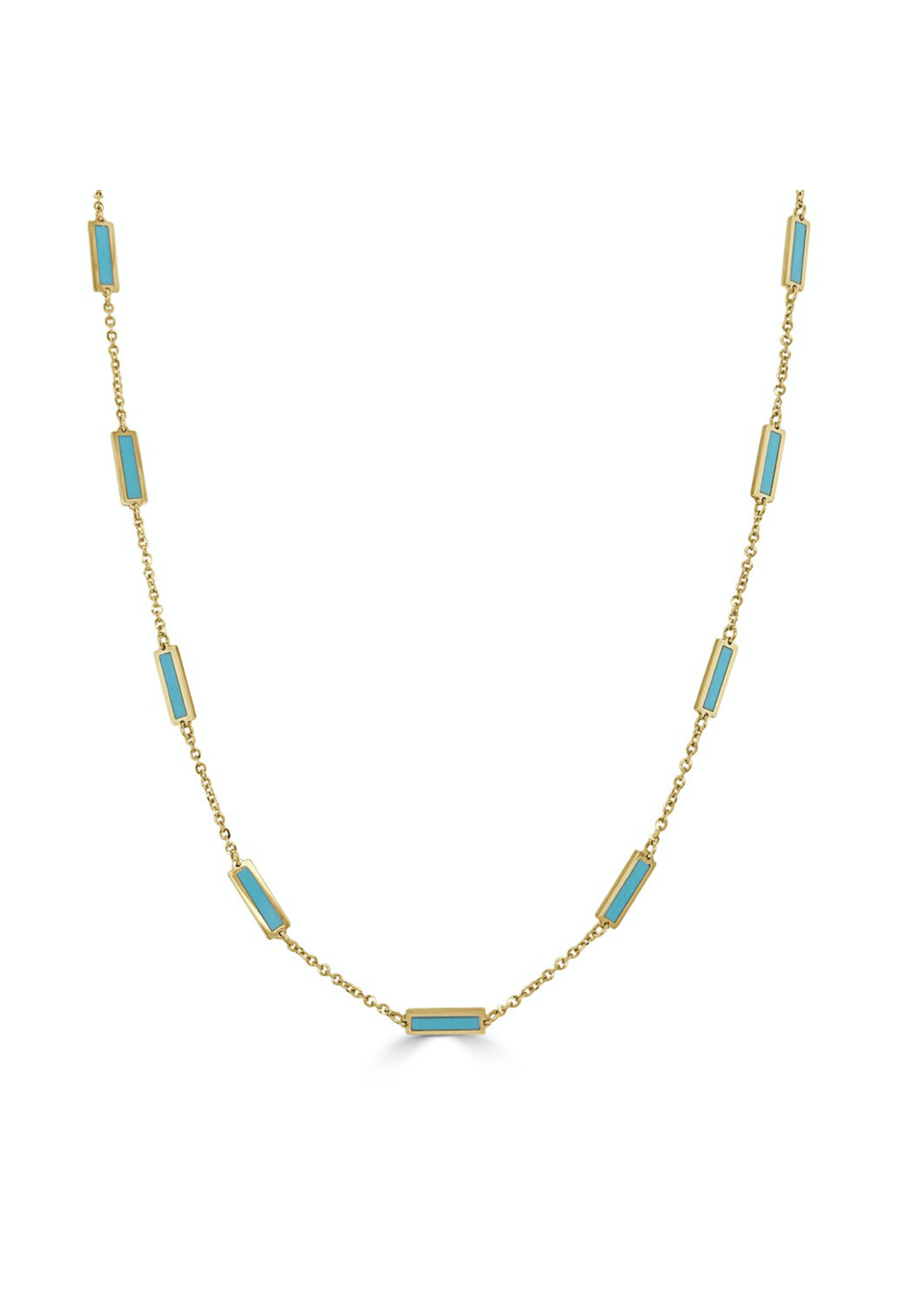 Jill Alberts Turquoise Station Necklace