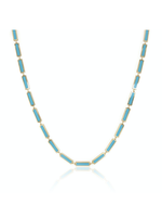 Jill Alberts Turquoise Station Bar Necklace