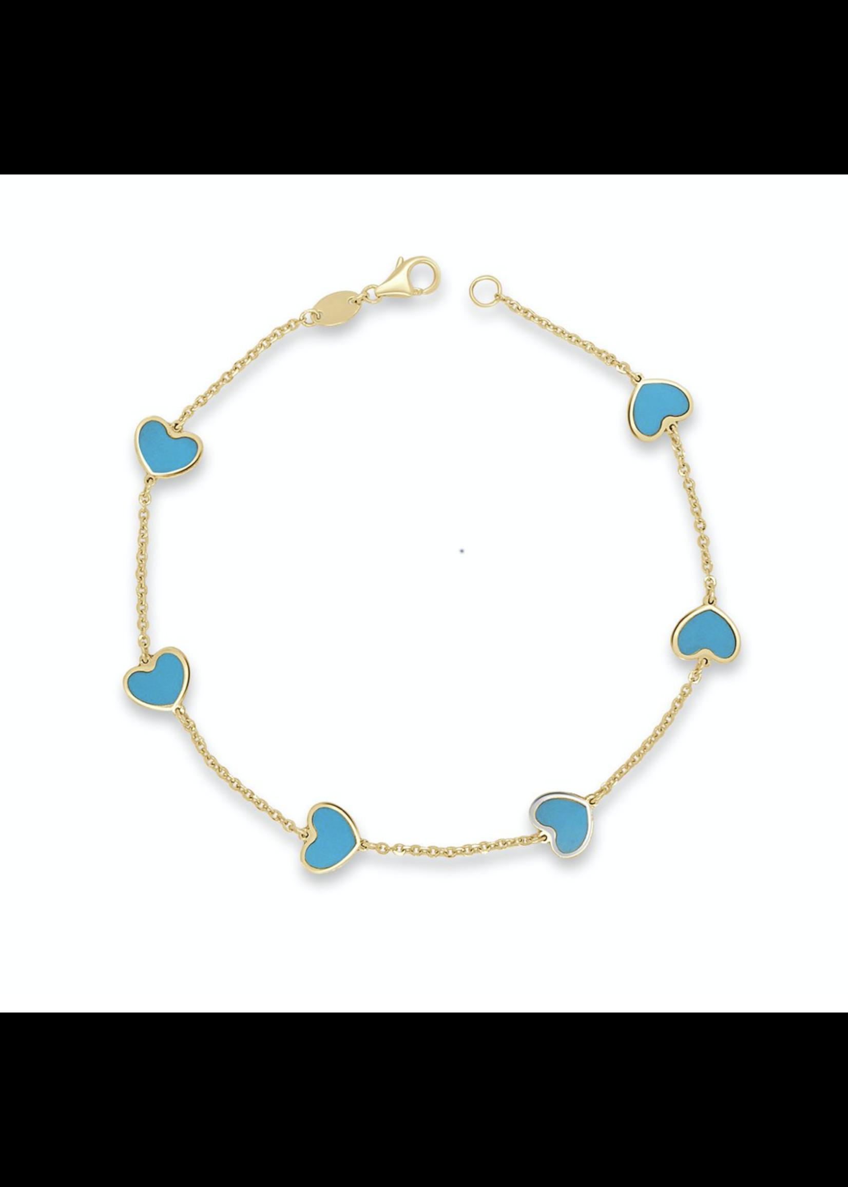 Jill Alberts Turquoise Heart Bracelet