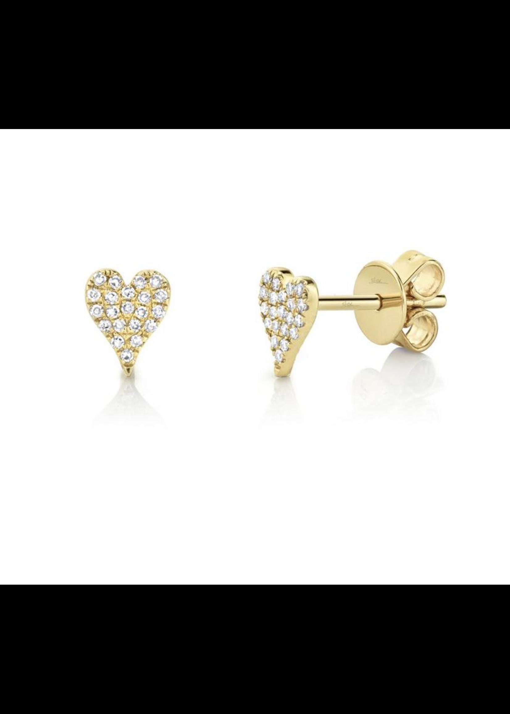 Jill Alberts Diamond Pave Stud Heart Earrings