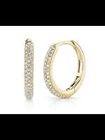 Jill Alberts Diamond Pave Hoop Earrings