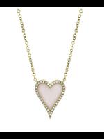 Jill Alberts Pink Opal Heart Necklace