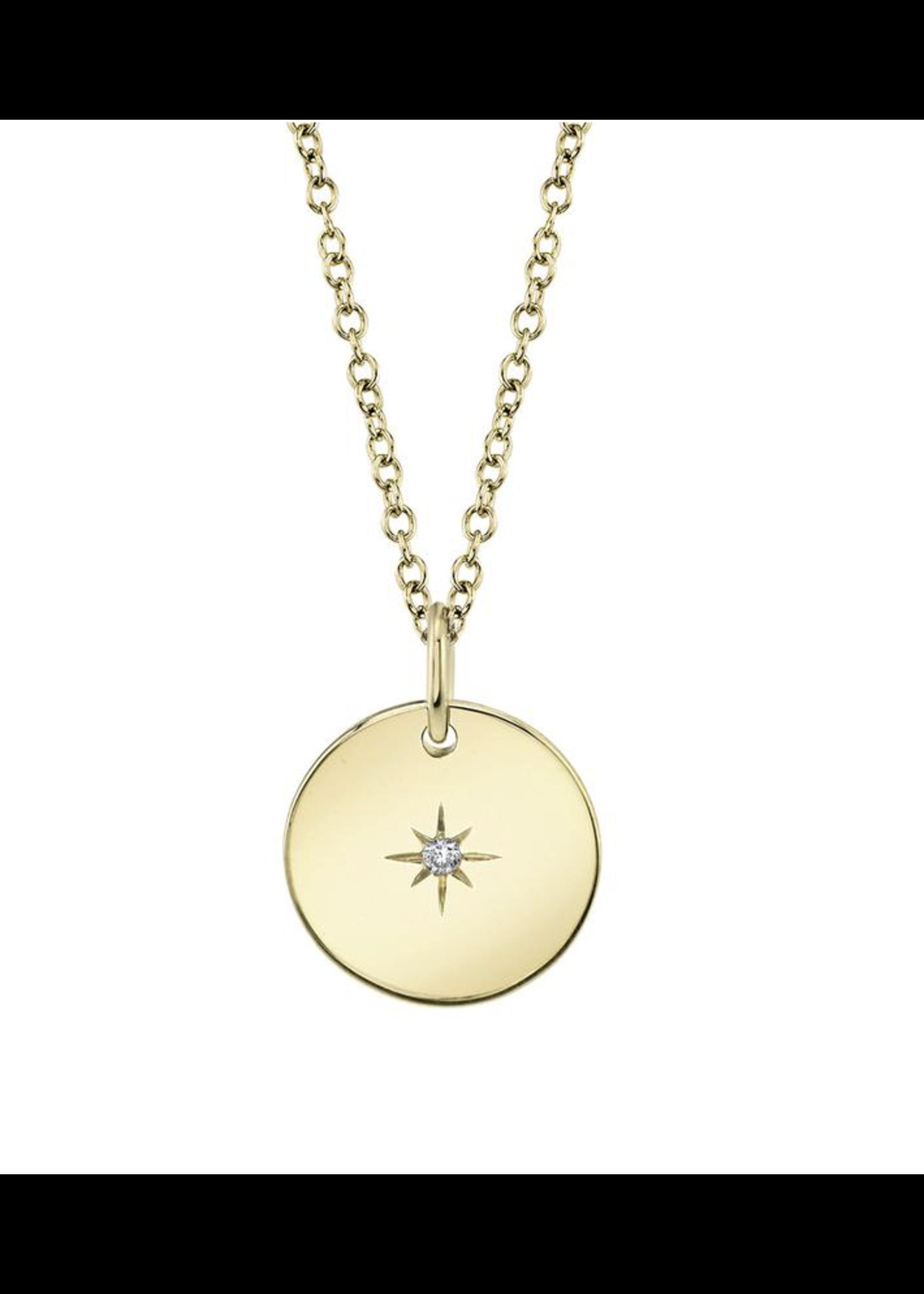 Jill Alberts Diamond Star Disc Necklace