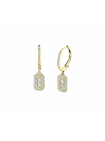 Jill Alberts Diamond Baguette Earrings